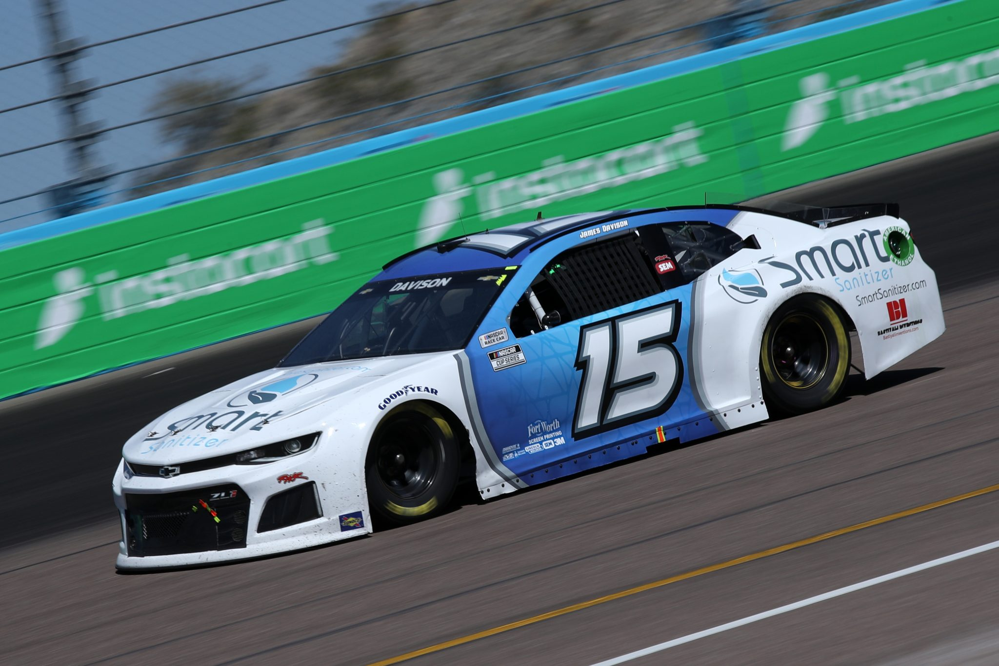 AVONDALE, ARIZONA - MARCH 14: James Davison, driver of the #15 Smart Sanitizer Chevrolet, drives during the NASCAR Cup Series Instacart 500 at Phoenix Raceway on March 14, 2021 in Avondale, Arizona. (Photo by Sean Gardner/Getty Images) | Getty Images