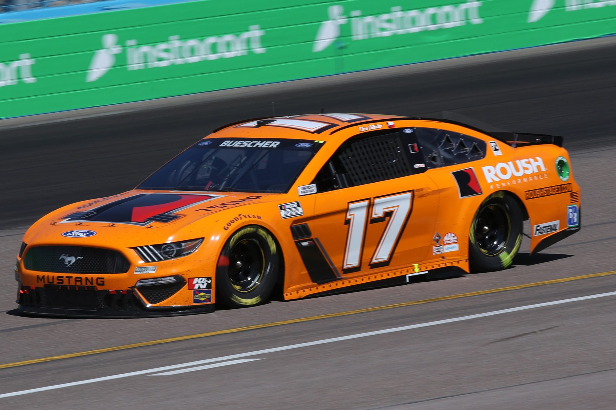 AVONDALE, ARIZONA - MARCH 14: Chris Buescher, driver of the #17 Roush Performance Ford, drives during the NASCAR Cup Series Instacart 500 at Phoenix Raceway on March 14, 2021 in Avondale, Arizona. (Photo by Sean Gardner/Getty Images) | Getty Images