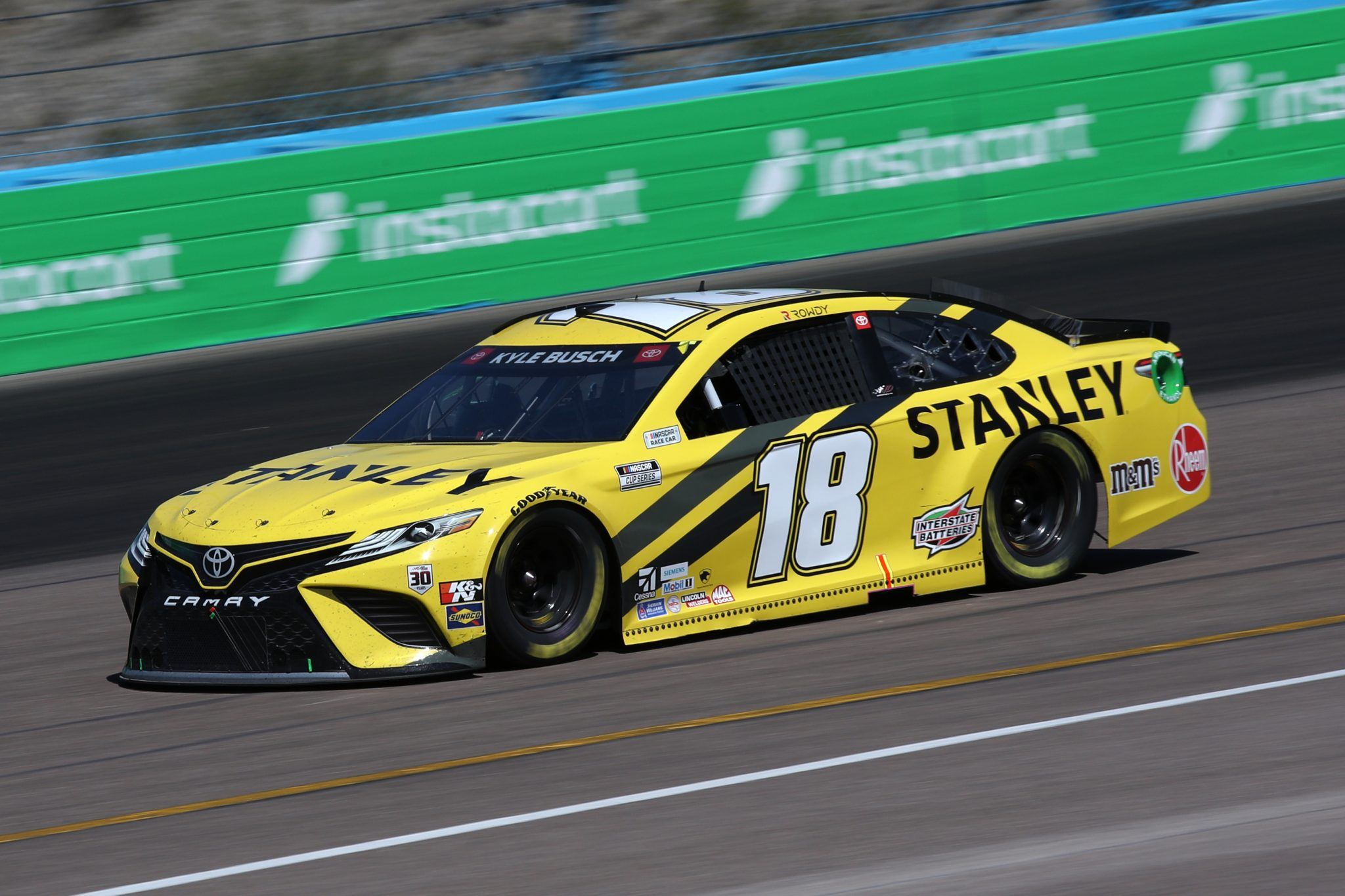 AVONDALE, ARIZONA - MARCH 14: Kyle Busch, driver of the #18 STANLEY Toyota, drives during the NASCAR Cup Series Instacart 500 at Phoenix Raceway on March 14, 2021 in Avondale, Arizona. (Photo by Sean Gardner/Getty Images) | Getty Images