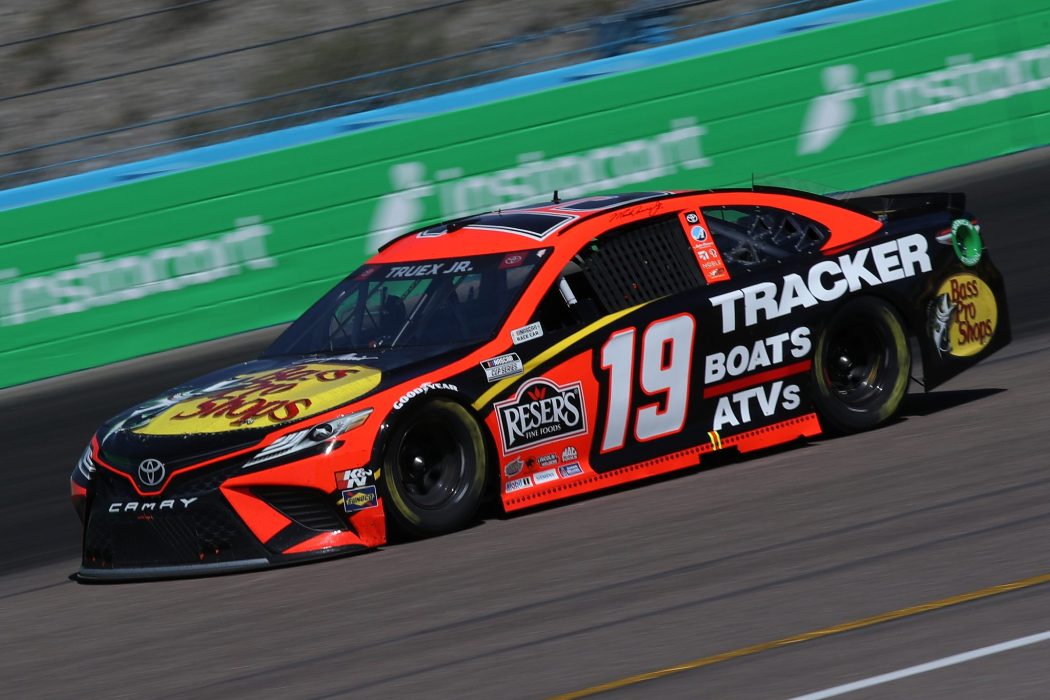 AVONDALE, ARIZONA - MARCH 14: Martin Truex Jr., driver of the #19 Bass Pro Toyota, drives during the NASCAR Cup Series Instacart 500 at Phoenix Raceway on March 14, 2021 in Avondale, Arizona. (Photo by Sean Gardner/Getty Images) | Getty Images