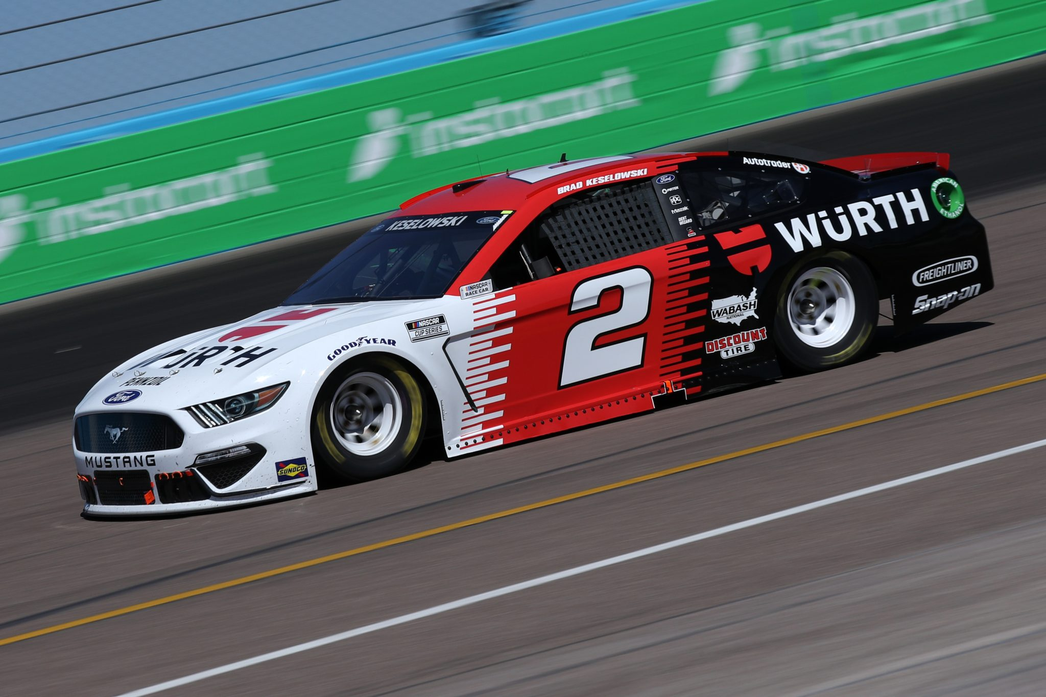 AVONDALE, ARIZONA - MARCH 14: Brad Keselowski, driver of the #2 Wurth Ford, drives during the NASCAR Cup Series Instacart 500 at Phoenix Raceway on March 14, 2021 in Avondale, Arizona. (Photo by Sean Gardner/Getty Images) | Getty Images