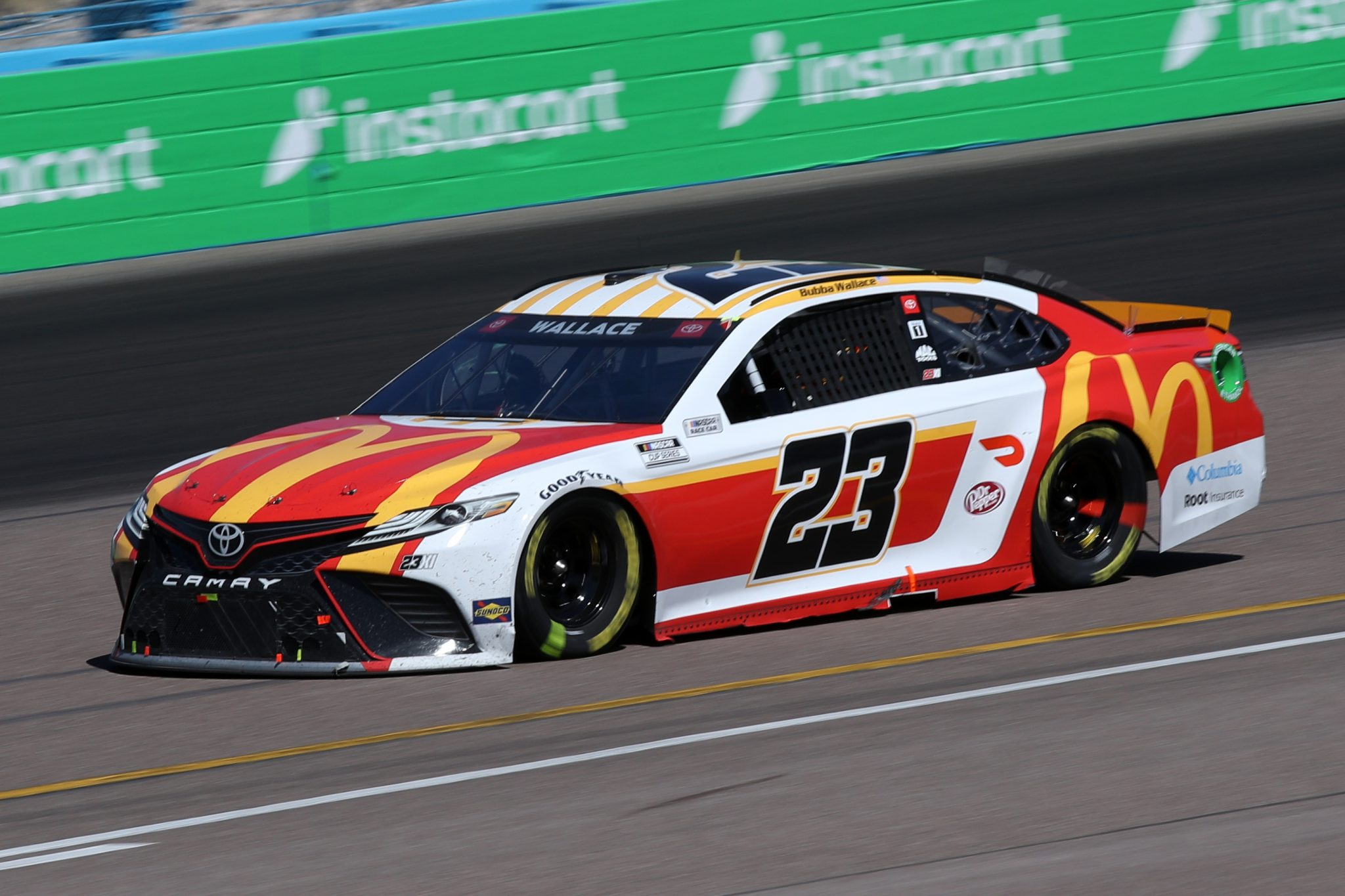 AVONDALE, ARIZONA - MARCH 14: Bubba Wallace, driver of the #23 McDonalds Toyota, drives during the NASCAR Cup Series Instacart 500 at Phoenix Raceway on March 14, 2021 in Avondale, Arizona. (Photo by Sean Gardner/Getty Images) | Getty Images