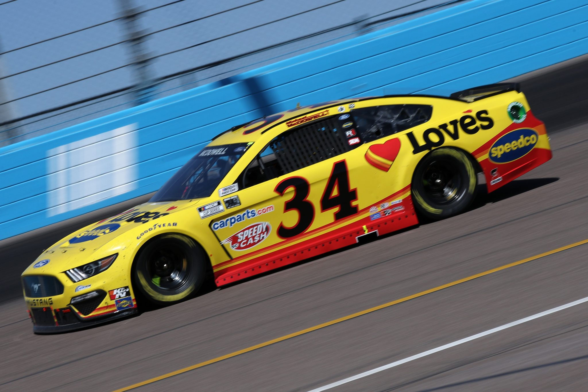 AVONDALE, ARIZONA - MARCH 14: Michael McDowell, driver of the #34 Love's Travel Stops Ford, drives during the NASCAR Cup Series Instacart 500 at Phoenix Raceway on March 14, 2021 in Avondale, Arizona. (Photo by Sean Gardner/Getty Images) | Getty Images