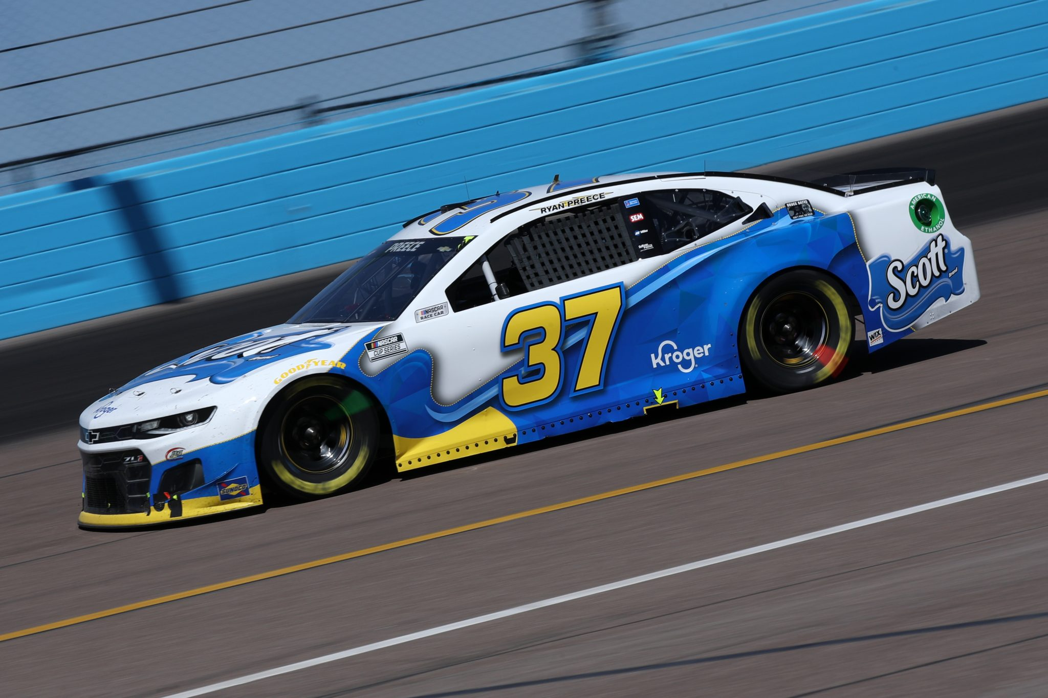 AVONDALE, ARIZONA - MARCH 14: Ryan Preece, driver of the #37 Soctt Brand Chevrolet, drives during the NASCAR Cup Series Instacart 500 at Phoenix Raceway on March 14, 2021 in Avondale, Arizona. (Photo by Sean Gardner/Getty Images)   Getty Images