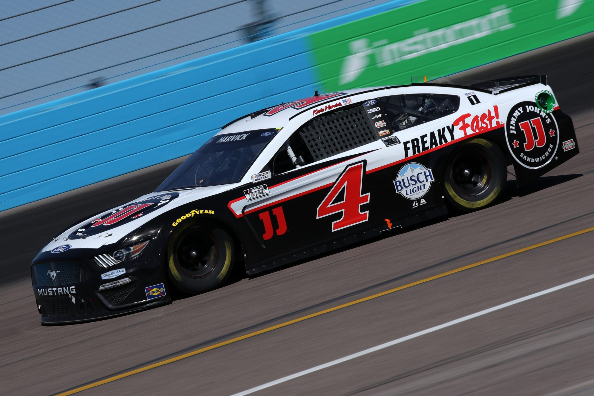 AVONDALE, ARIZONA - MARCH 14: Kevin Harvick, driver of the #4 Jimmy John's Ford, drives during the NASCAR Cup Series Instacart 500 at Phoenix Raceway on March 14, 2021 in Avondale, Arizona. (Photo by Sean Gardner/Getty Images) | Getty Images