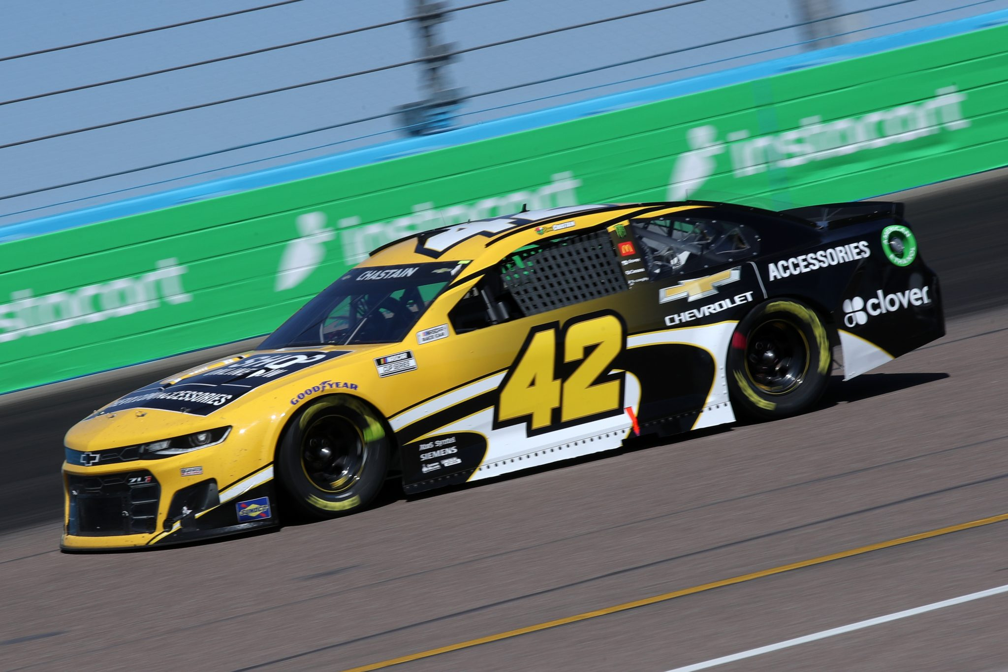 AVONDALE, ARIZONA - MARCH 14: Ross Chastain, driver of the #42 Chevrolet Accessories Chevrolet, drives during the NASCAR Cup Series Instacart 500 at Phoenix Raceway on March 14, 2021 in Avondale, Arizona. (Photo by Sean Gardner/Getty Images) | Getty Images