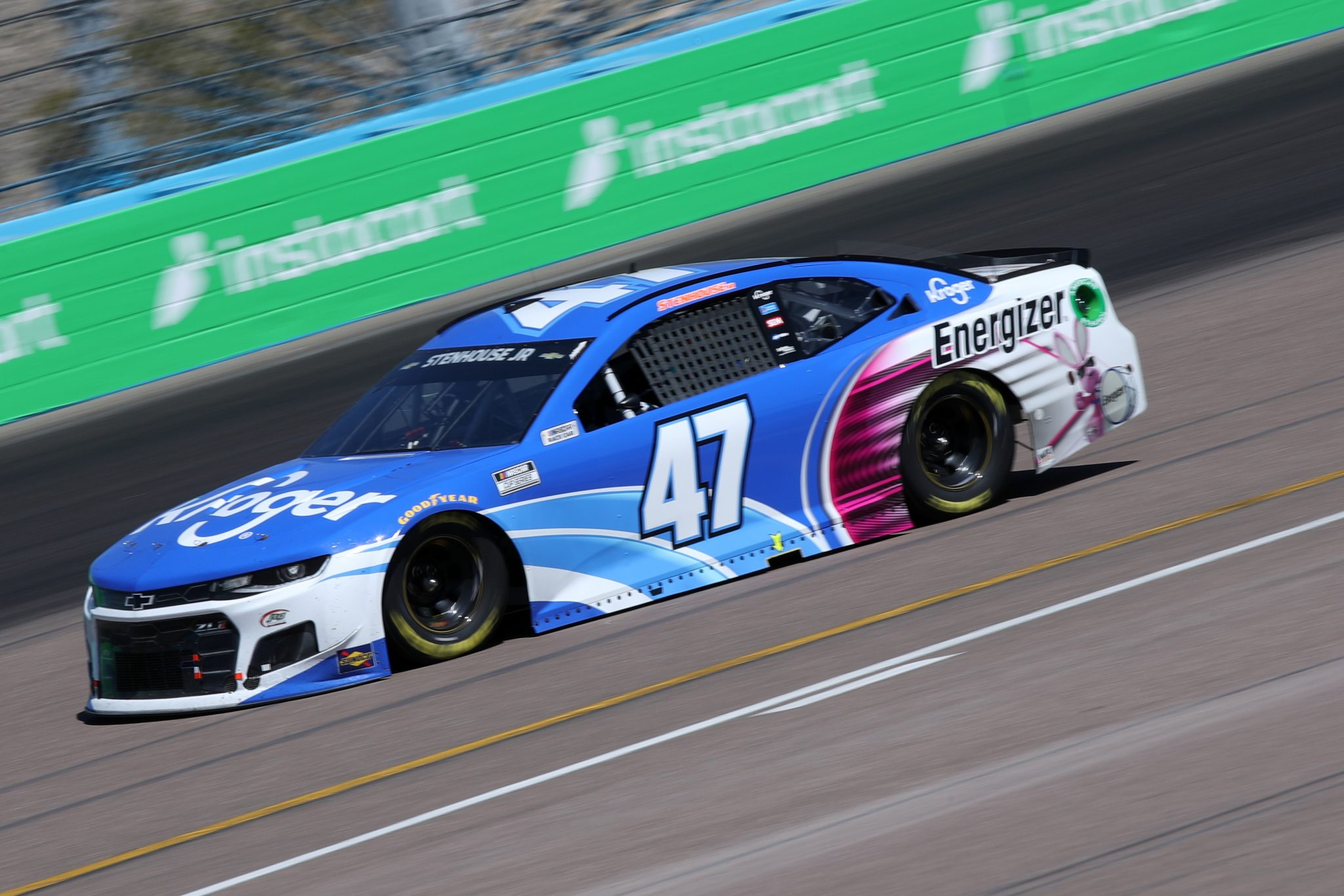 AVONDALE, ARIZONA - MARCH 14: Ricky Stenhouse Jr., driver of the #47 Kroger/Energizer Chevrolet, drives during the NASCAR Cup Series Instacart 500 at Phoenix Raceway on March 14, 2021 in Avondale, Arizona. (Photo by Sean Gardner/Getty Images) | Getty Images