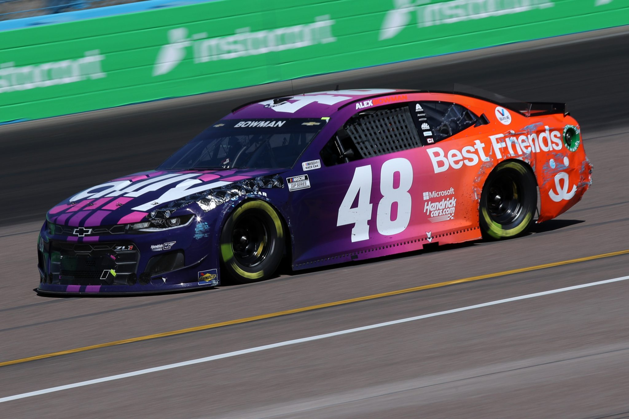 AVONDALE, ARIZONA - MARCH 14: Alex Bowman, driver of the #48 Ally/Best Friends Chevrolet, drives during the NASCAR Cup Series Instacart 500 at Phoenix Raceway on March 14, 2021 in Avondale, Arizona. (Photo by Sean Gardner/Getty Images) | Getty Images