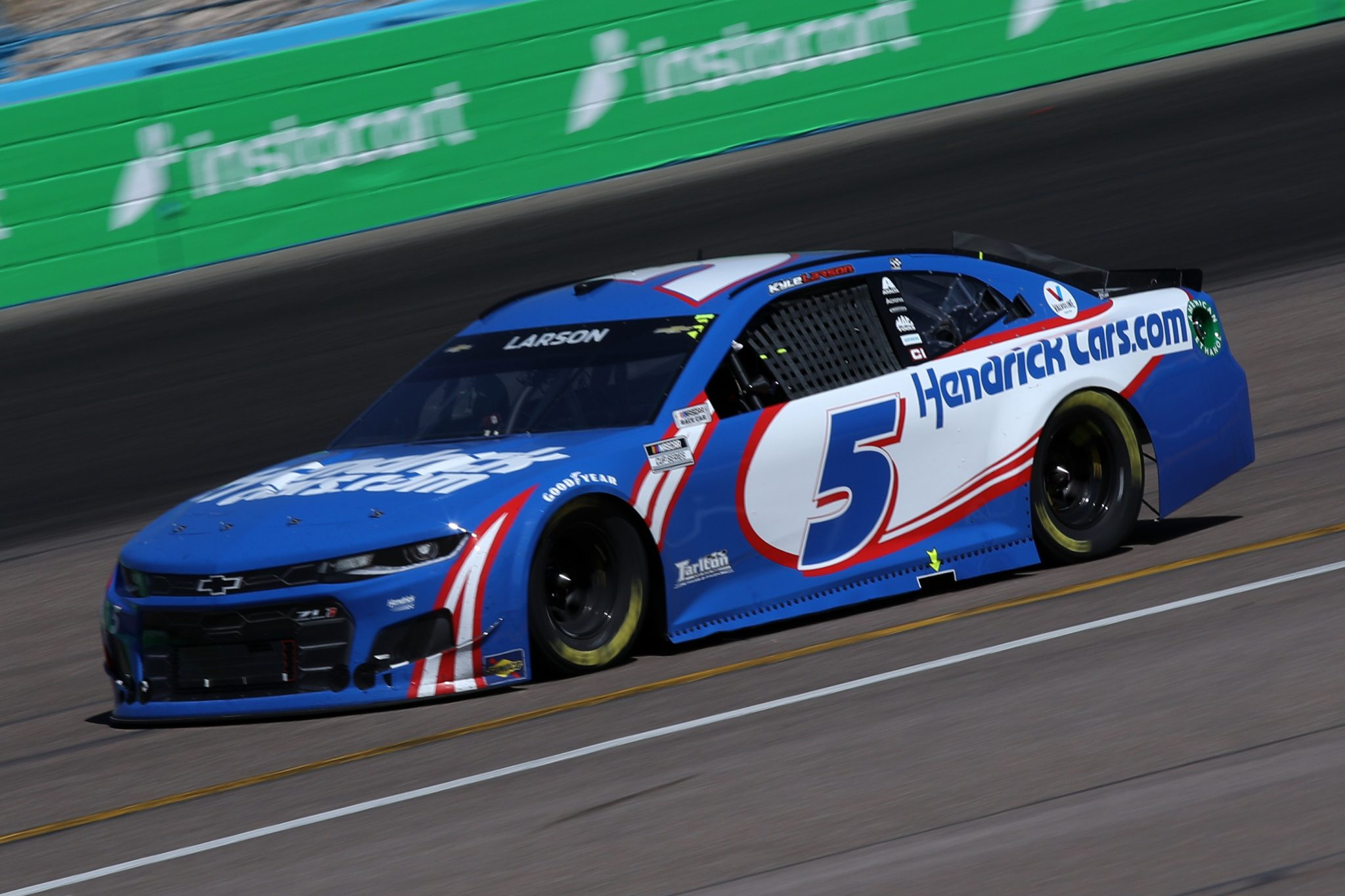 AVONDALE, ARIZONA - MARCH 14: Kyle Larson, driver of the #5 HendrickCars.com Chevrolet, drives during the NASCAR Cup Series Instacart 500 at Phoenix Raceway on March 14, 2021 in Avondale, Arizona. (Photo by Sean Gardner/Getty Images) | Getty Images