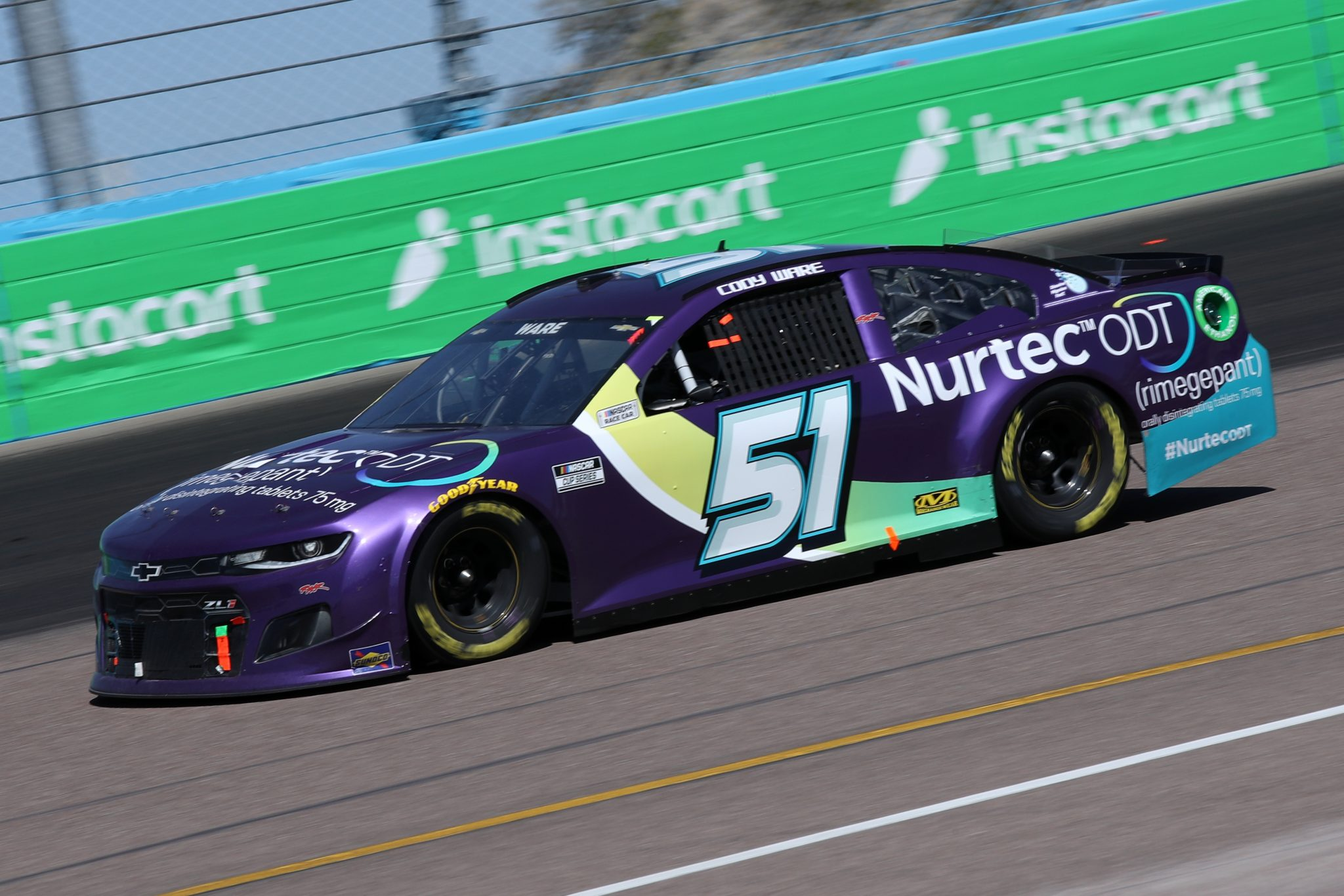 AVONDALE, ARIZONA - MARCH 14: Cody Ware, driver of the #51 Nurtec ODT Chevrolet, drives during the NASCAR Cup Series Instacart 500 at Phoenix Raceway on March 14, 2021 in Avondale, Arizona. (Photo by Sean Gardner/Getty Images) | Getty Images