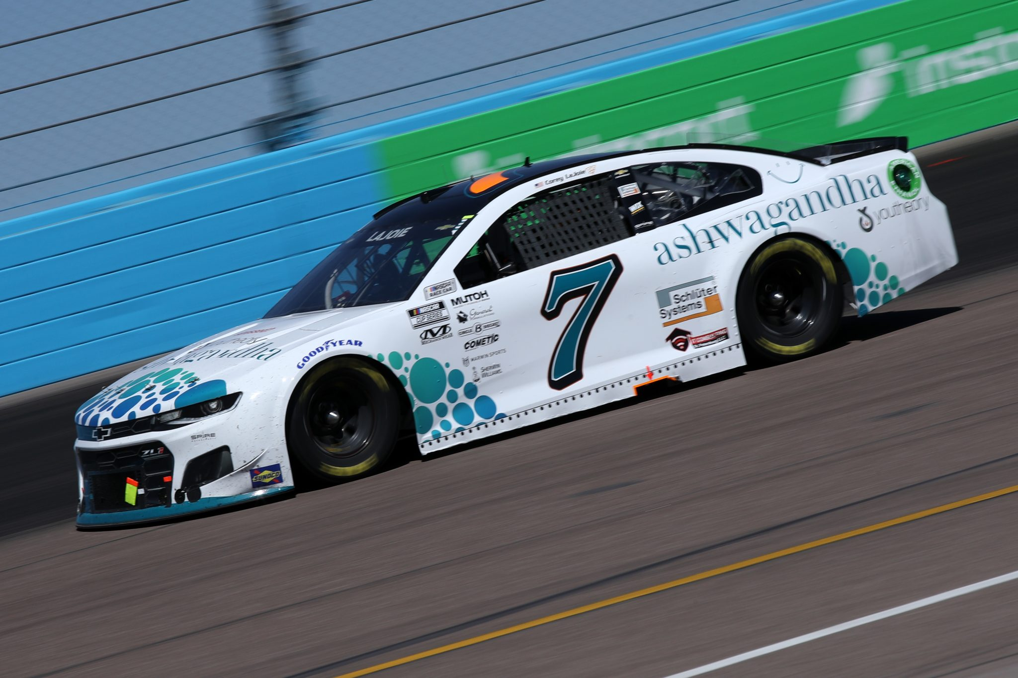 AVONDALE, ARIZONA - MARCH 14: Corey LaJoie, driver of the #7 Youtheory Chevrolet, drives during the NASCAR Cup Series Instacart 500 at Phoenix Raceway on March 14, 2021 in Avondale, Arizona. (Photo by Sean Gardner/Getty Images) | Getty Images
