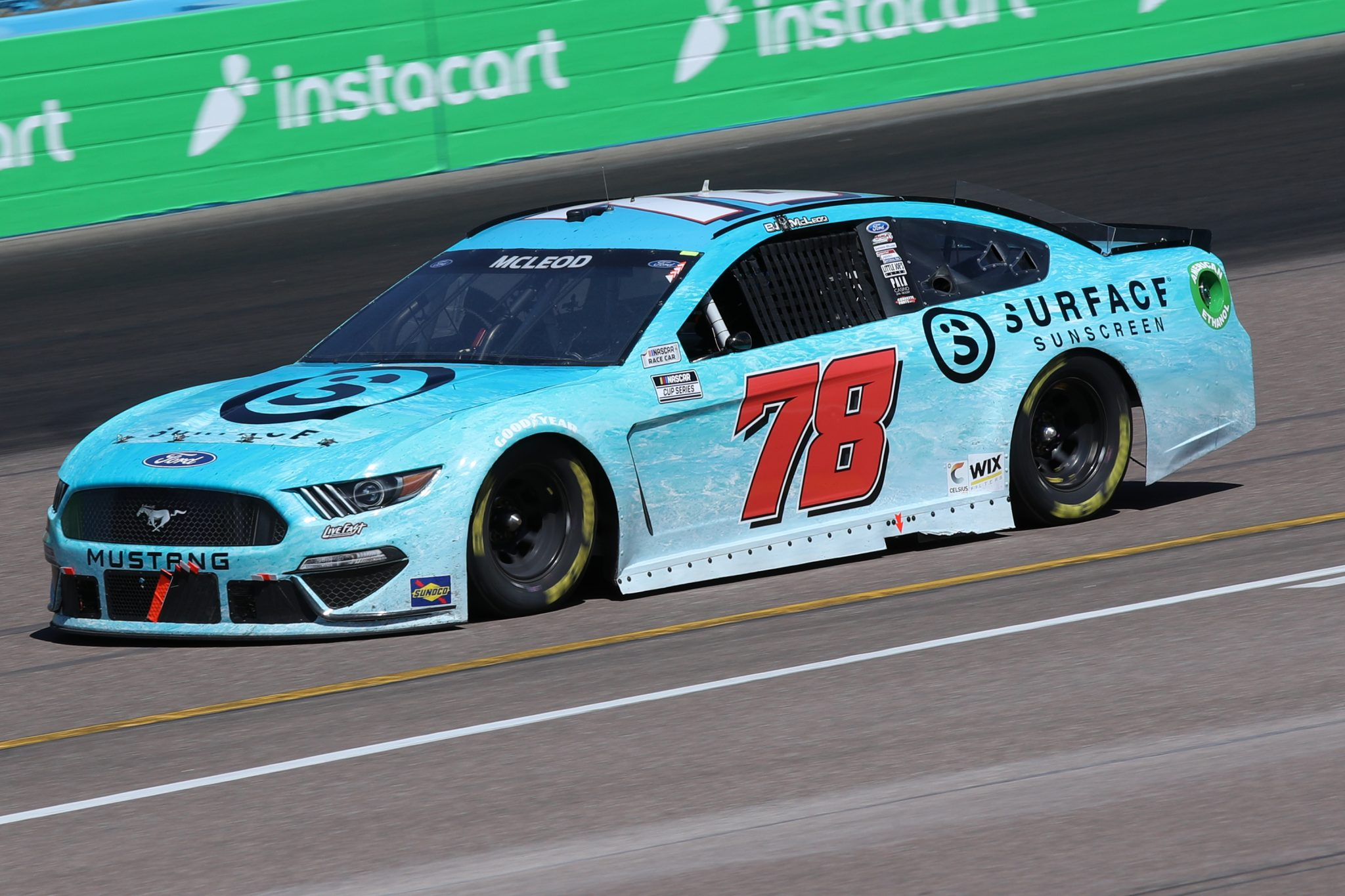 AVONDALE, ARIZONA - MARCH 14: BJ McLeod, driver of the #78 Surface Sunscreen Ford, drives during the NASCAR Cup Series Instacart 500 at Phoenix Raceway on March 14, 2021 in Avondale, Arizona. (Photo by Sean Gardner/Getty Images) | Getty Images