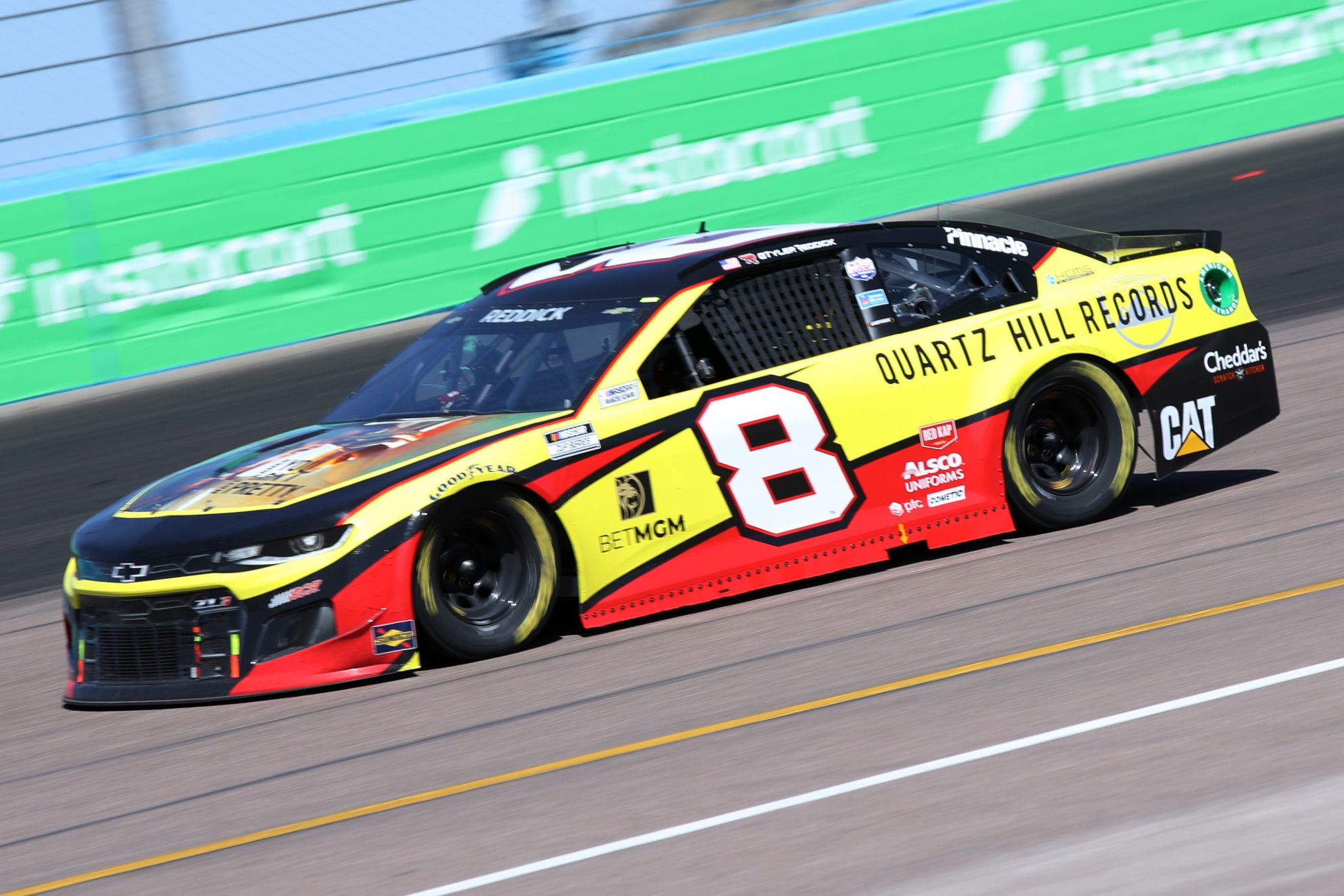 AVONDALE, ARIZONA - MARCH 14: Tyler Reddick, driver of the #8 Quartz Hill Records Chevrolet, drives during the NASCAR Cup Series Instacart 500 at Phoenix Raceway on March 14, 2021 in Avondale, Arizona. (Photo by Sean Gardner/Getty Images) | Getty Images