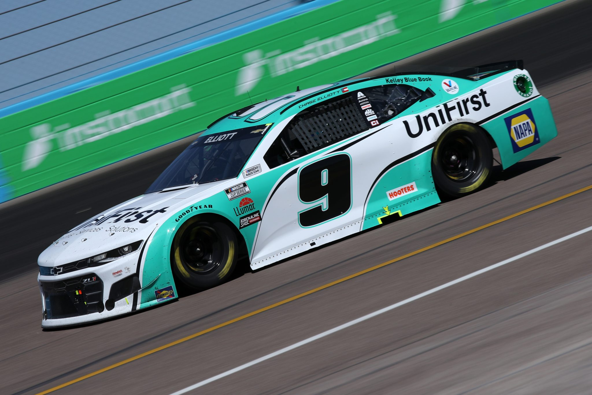 AVONDALE, ARIZONA - MARCH 14: Chase Elliott, driver of the #9 UniFirst Chevrolet, drives during the NASCAR Cup Series Instacart 500 at Phoenix Raceway on March 14, 2021 in Avondale, Arizona. (Photo by Sean Gardner/Getty Images) | Getty Images