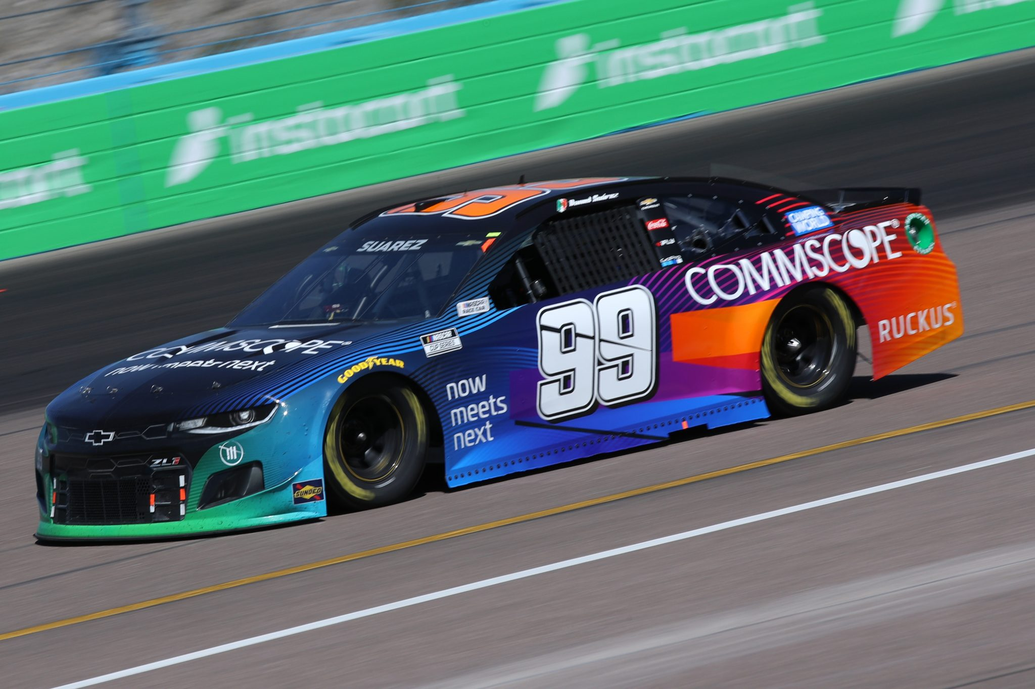 AVONDALE, ARIZONA - MARCH 14: Daniel Suarez, driver of the #99 CommScope Chevrolet, drives during the NASCAR Cup Series Instacart 500 at Phoenix Raceway on March 14, 2021 in Avondale, Arizona. (Photo by Sean Gardner/Getty Images) | Getty Images
