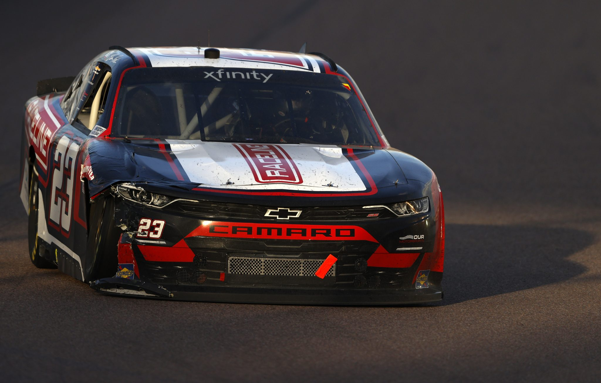 AVONDALE, ARIZONA - MARCH 13: Blaine Perkins, driver of the #23 Raceline Chevrolet, drives during the NASCAR Xfinity Series Call 811 Before You Dig 200 presented by Arizona 811 at Phoenix Raceway on March 13, 2021 in Avondale, Arizona. (Photo by Christian Petersen/Getty Images) | Getty Images