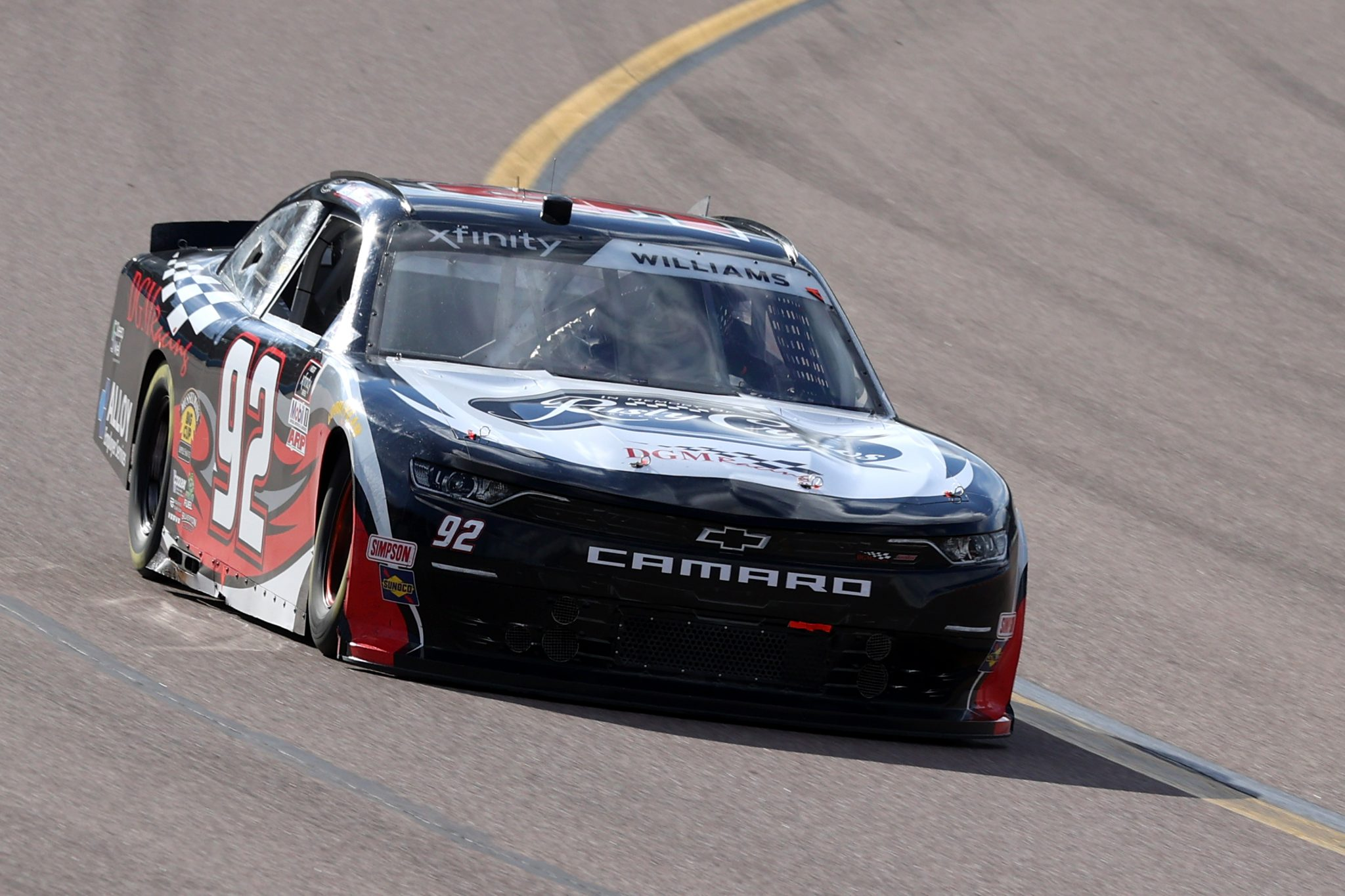 AVONDALE, ARIZONA - MARCH 13: Josh Williams, driver of the #92 DGM Racing Chevrolet, drives during the NASCAR Xfinity Series Call 811 Before You Dig 200 presented by Arizona 811 at Phoenix Raceway on March 13, 2021 in Avondale, Arizona. (Photo by Abbie Parr/Getty Images) | Getty Images