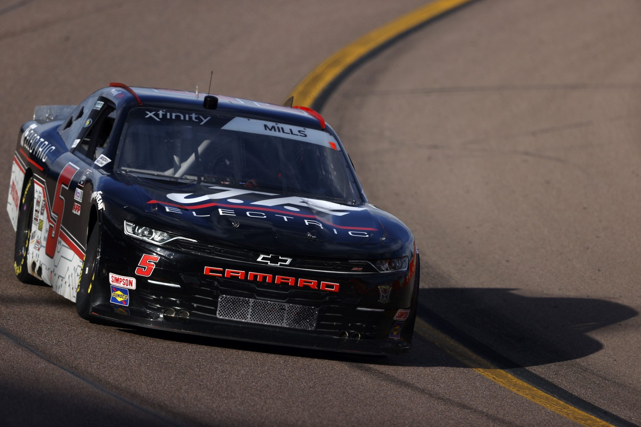 AVONDALE, ARIZONA - MARCH 13: Matt Mills, driver of the #5 J.F. Electric Chevrolet, drives during the NASCAR Xfinity Series Call 811 Before You Dig 200 presented by Arizona 811 at Phoenix Raceway on March 13, 2021 in Avondale, Arizona. (Photo by Christian Petersen/Getty Images) | Getty Images
