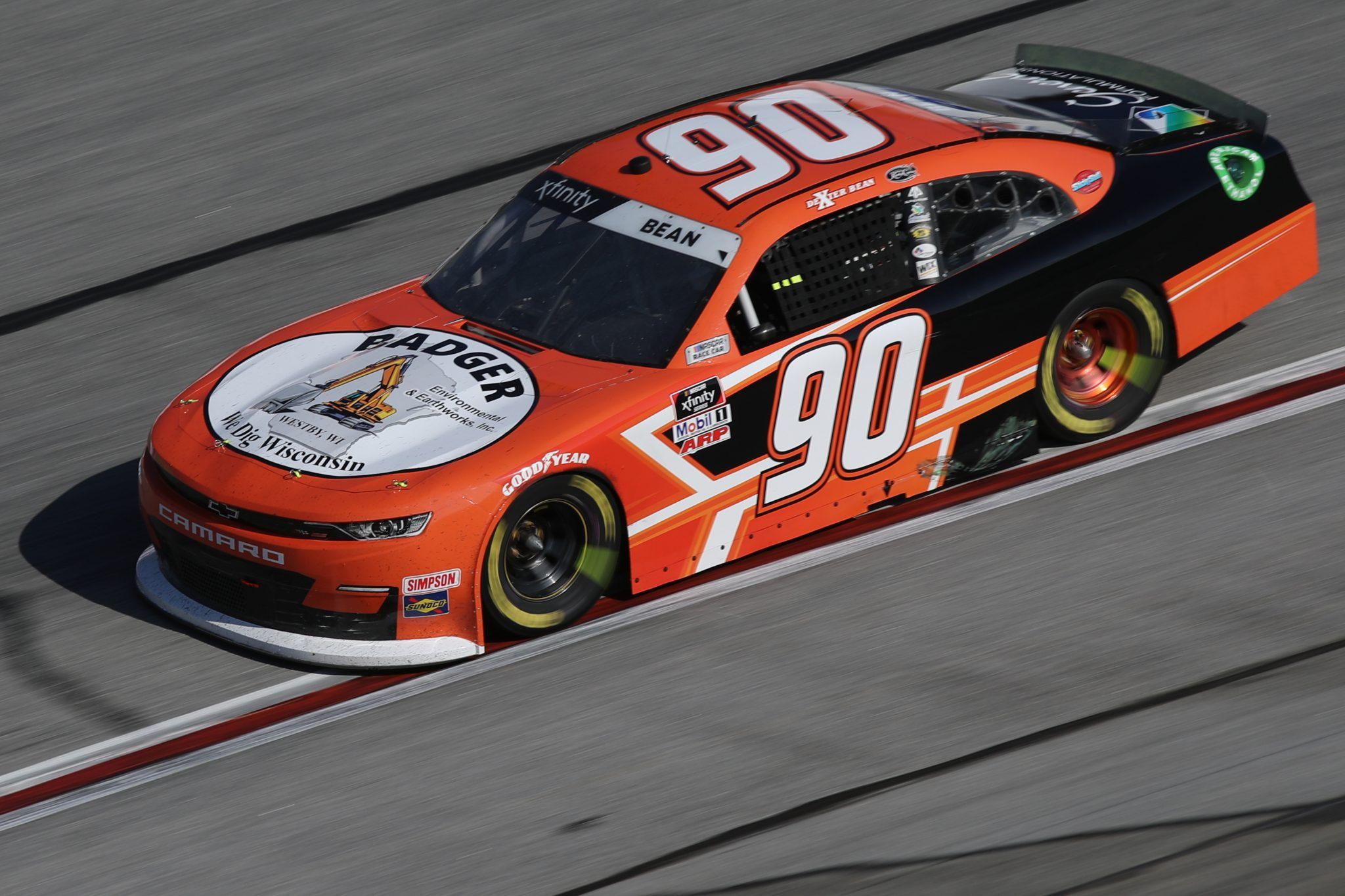HAMPTON, GEORGIA - MARCH 20: Dexter Bean, driver of the #90 Badger Environmental Chevrolet, drives during the NASCAR Xfinity Series EchoPark 250 at Atlanta Motor Speedway on March 20, 2021 in Hampton, Georgia. (Photo by Sean Gardner/Getty Images) | Getty Images