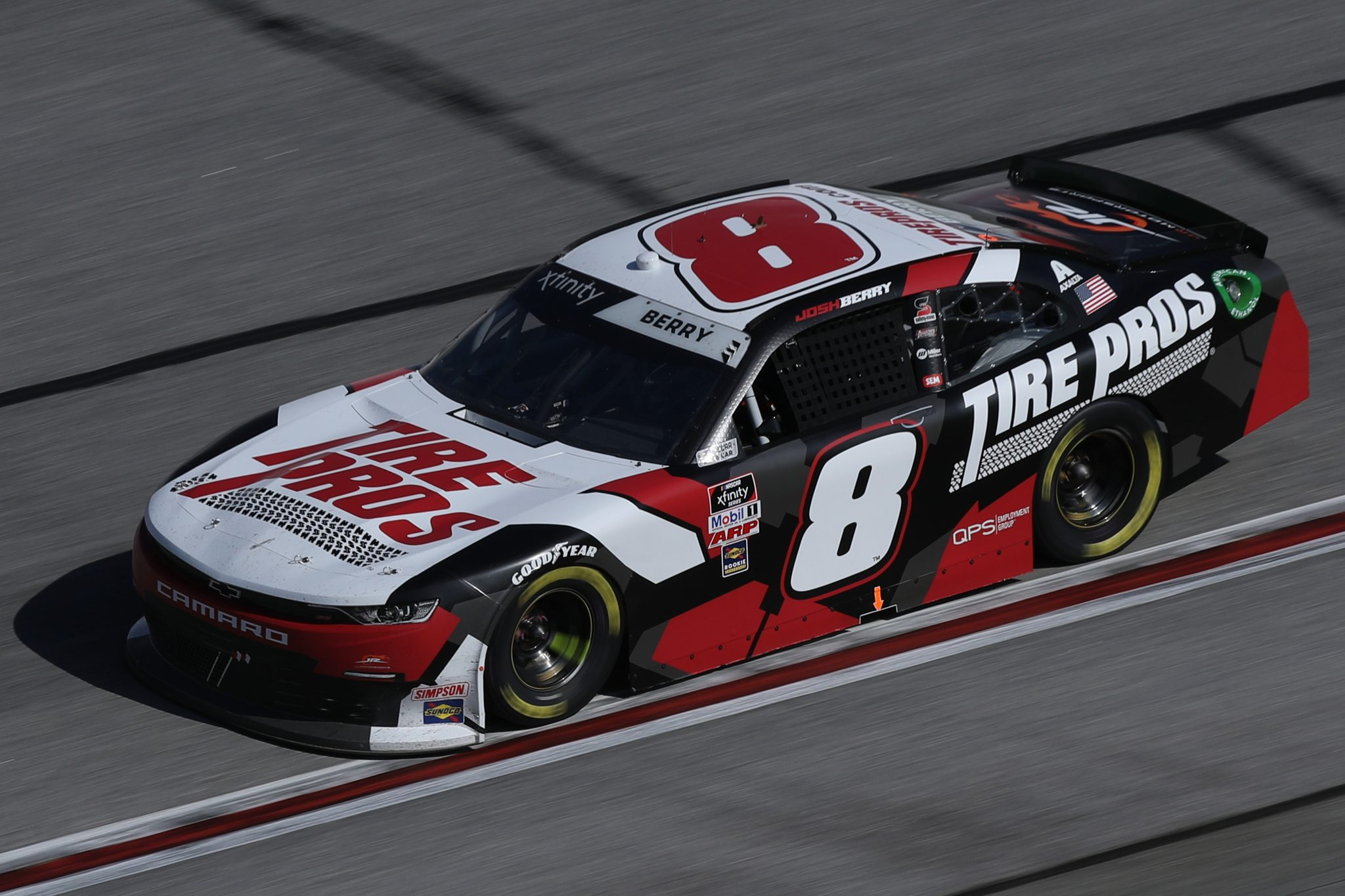 HAMPTON, GEORGIA - MARCH 20: Josh Berry, driver of the #8 Tire Pros Chevrolet, drives during the NASCAR Xfinity Series EchoPark 250 at Atlanta Motor Speedway on March 20, 2021 in Hampton, Georgia. (Photo by Sean Gardner/Getty Images) | Getty Images