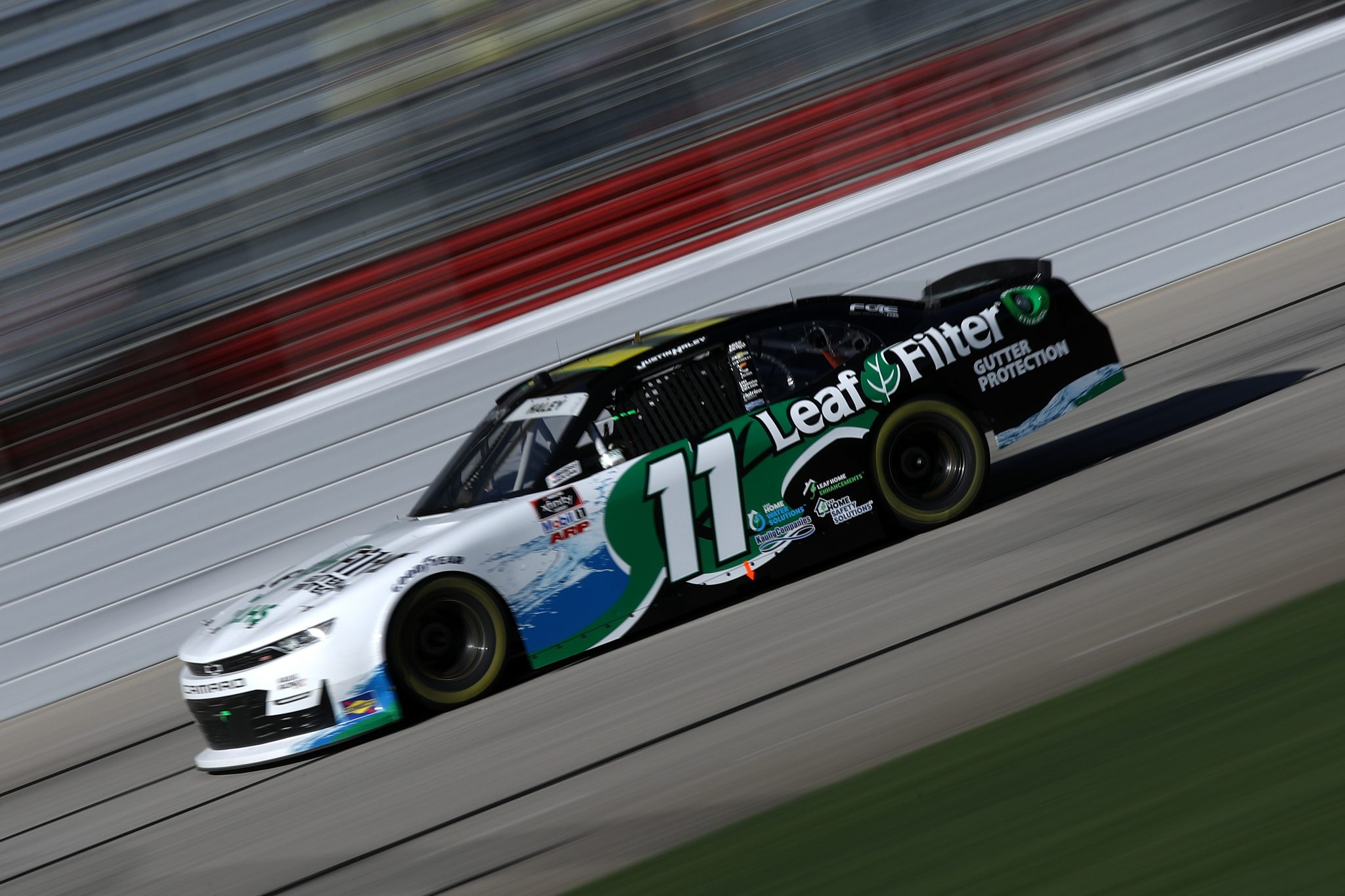HAMPTON, GEORGIA - MARCH 20: Justin Haley, driver of the #11 LeafFilter Gutter Protection Chevrolet, drives during the NASCAR Xfinity Series EchoPark 250 at Atlanta Motor Speedway on March 20, 2021 in Hampton, Georgia. (Photo by Sean Gardner/Getty Images)   Getty Images
