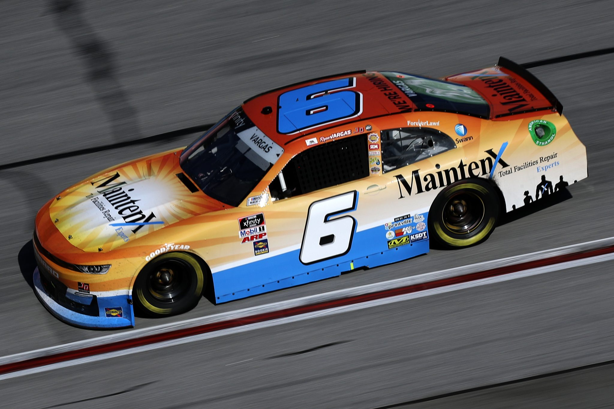 HAMPTON, GEORGIA - MARCH 20: Ryan Vargas, driver of the #6 MaintenX Chevrolet, drives during the NASCAR Xfinity Series EchoPark 250 at Atlanta Motor Speedway on March 20, 2021 in Hampton, Georgia. (Photo by Sean Gardner/Getty Images) | Getty Images