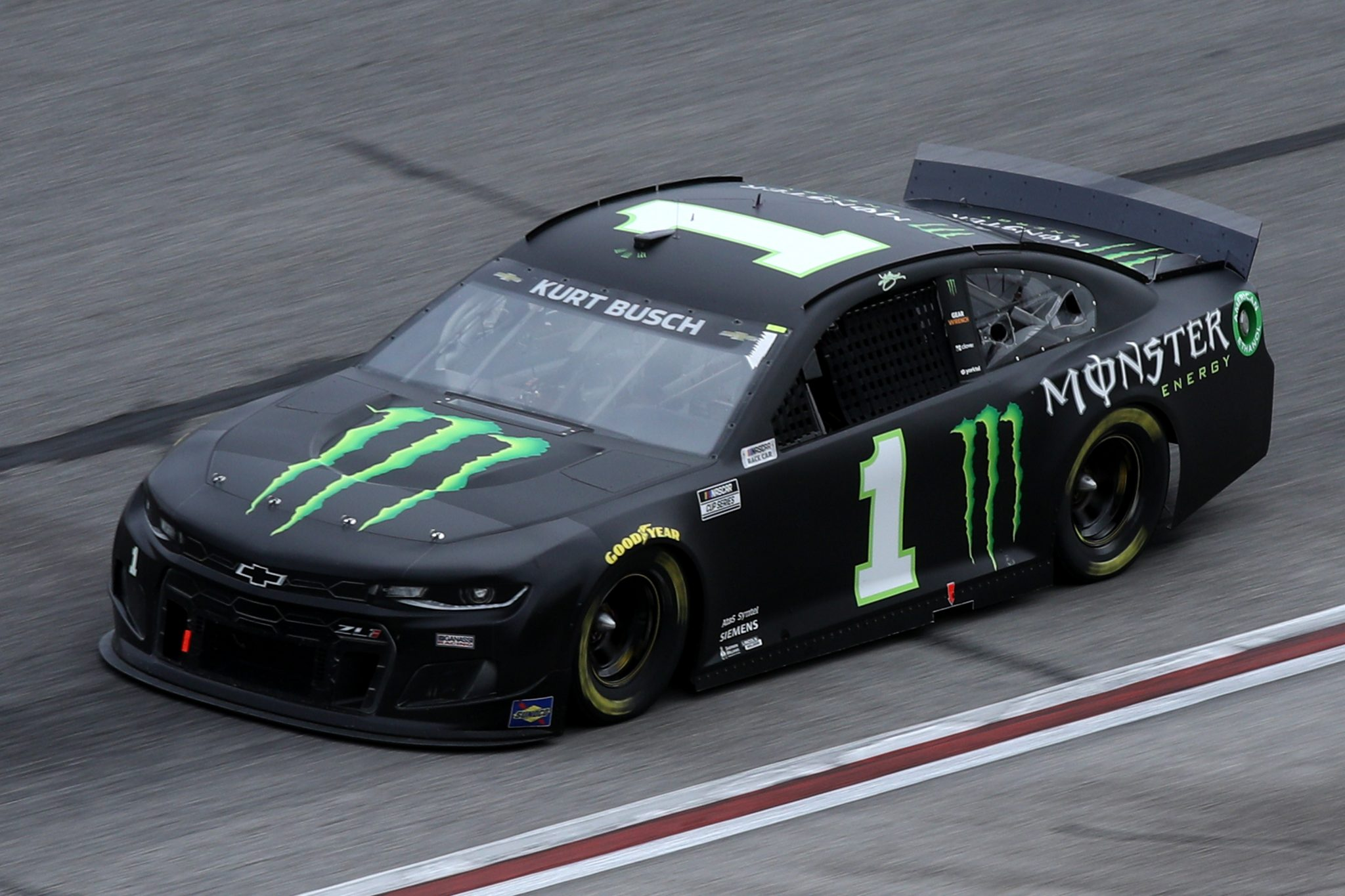 HAMPTON, GEORGIA - MARCH 21: Kurt Busch, driver of the #1 Monster Energy Chevrolet, drives during the NASCAR Cup Series Folds of Honor QuikTrip 500 at Atlanta Motor Speedway on March 21, 2021 in Hampton, Georgia. (Photo by Sean Gardner/Getty Images) | Getty Images