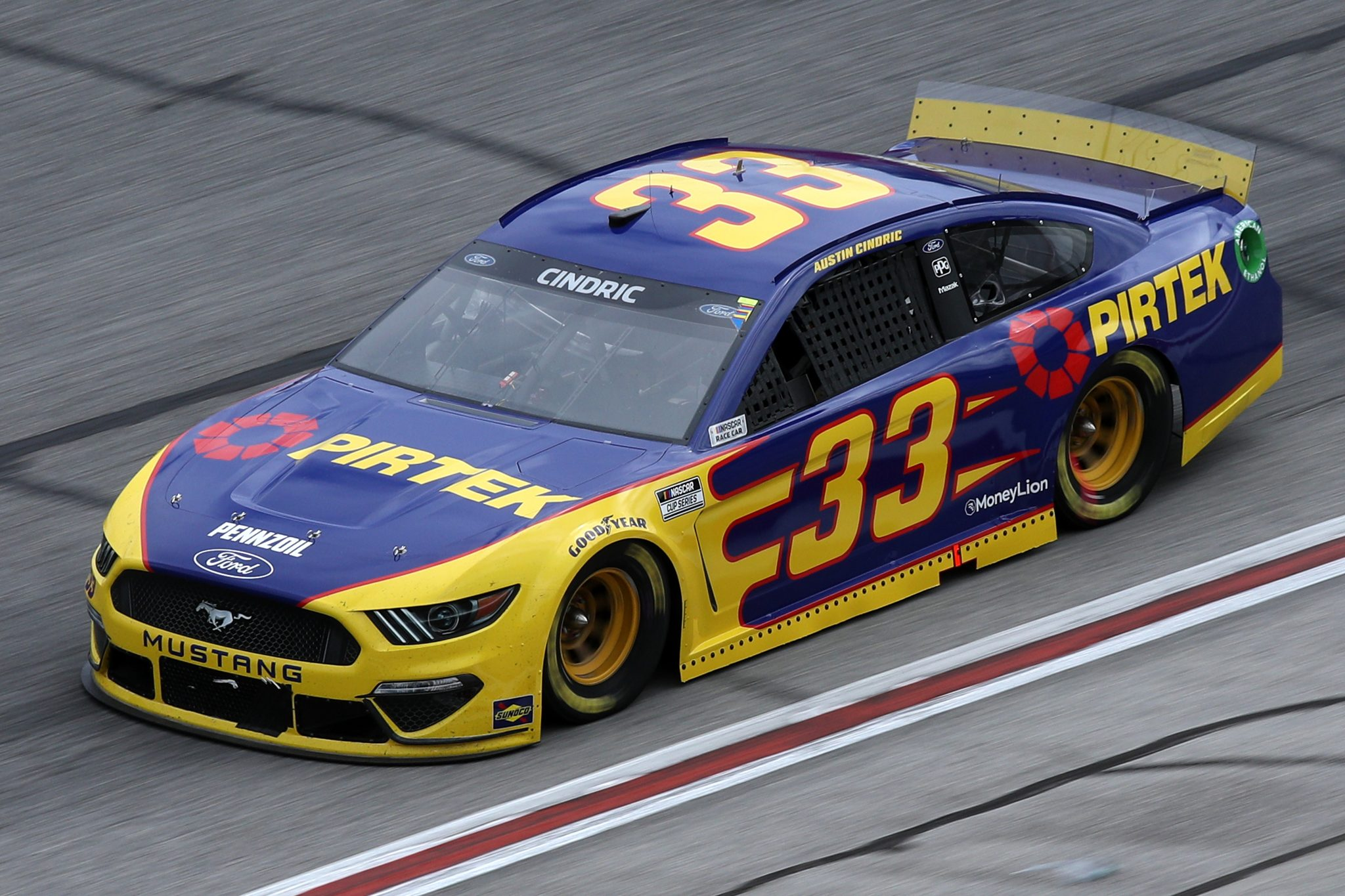 HAMPTON, GEORGIA - MARCH 21: Austin Cindric, driver of the #33 Pirtek Ford, drives during the NASCAR Cup Series Folds of Honor QuikTrip 500 at Atlanta Motor Speedway on March 21, 2021 in Hampton, Georgia. (Photo by Sean Gardner/Getty Images) | Getty Images