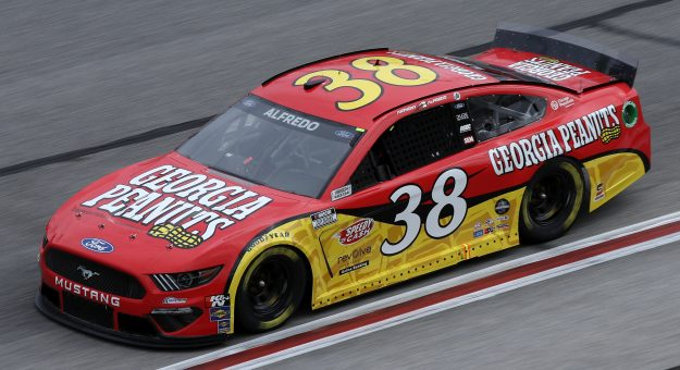 HAMPTON, GEORGIA - MARCH 21: Anthony Alfredo, driver of the #38 Georgia Peanuts Ford, drives during the NASCAR Cup Series Folds of Honor QuikTrip 500 at Atlanta Motor Speedway on March 21, 2021 in Hampton, Georgia. (Photo by Sean Gardner/Getty Images)   Getty Images