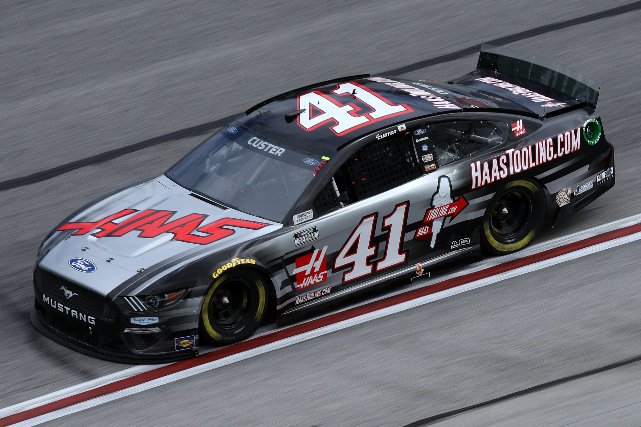 HAMPTON, GEORGIA - MARCH 21: Cole Custer, driver of the #41 HaasTooling.com Ford, drives during the NASCAR Cup Series Folds of Honor QuikTrip 500 at Atlanta Motor Speedway on March 21, 2021 in Hampton, Georgia. (Photo by Sean Gardner/Getty Images) | Getty Images