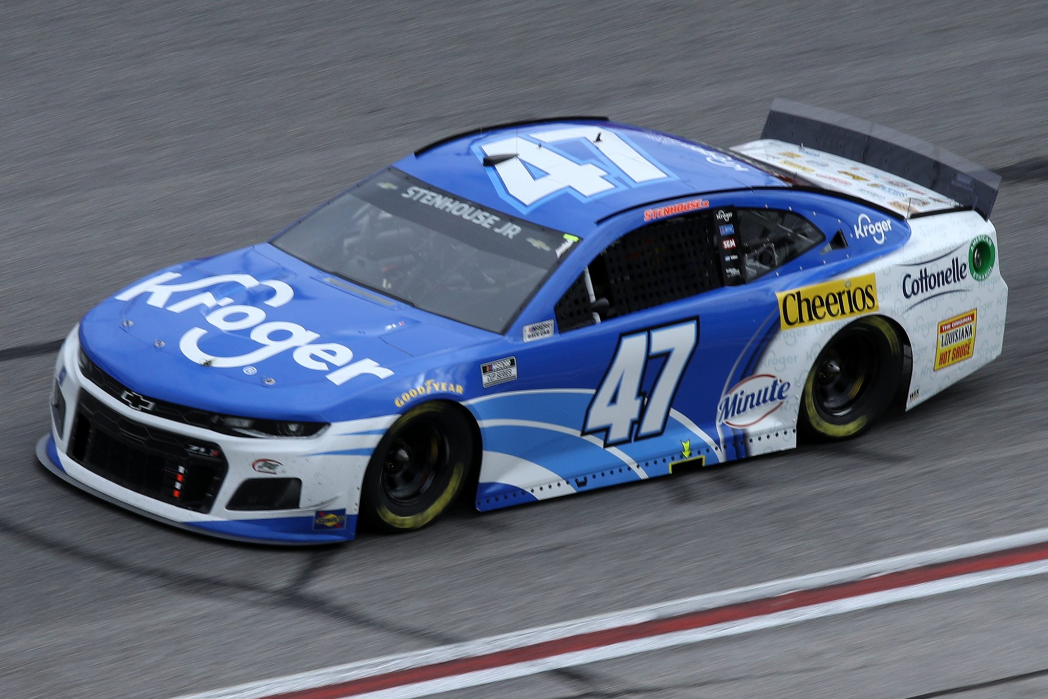 HAMPTON, GEORGIA - MARCH 21: Ricky Stenhouse Jr., driver of the #47 Kroger Chevrolet, drives during the NASCAR Cup Series Folds of Honor QuikTrip 500 at Atlanta Motor Speedway on March 21, 2021 in Hampton, Georgia. (Photo by Sean Gardner/Getty Images) | Getty Images