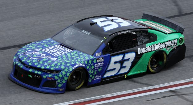 HAMPTON, GEORGIA - MARCH 21: Joey Gase, driver of the #53 Donate Life Georgia Chevrolet, drives during the NASCAR Cup Series Folds of Honor QuikTrip 500 at Atlanta Motor Speedway on March 21, 2021 in Hampton, Georgia. (Photo by Sean Gardner/Getty Images) | Getty Images