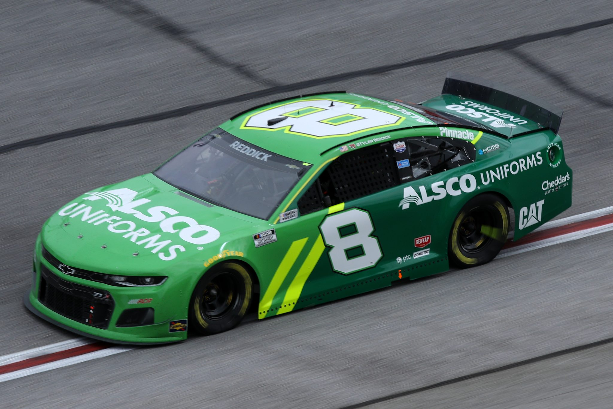 HAMPTON, GEORGIA - MARCH 21: Tyler Reddick, driver of the #8 Alsco Uniforms Chevrolet, drives during the NASCAR Cup Series Folds of Honor QuikTrip 500 at Atlanta Motor Speedway on March 21, 2021 in Hampton, Georgia. (Photo by Sean Gardner/Getty Images) | Getty Images