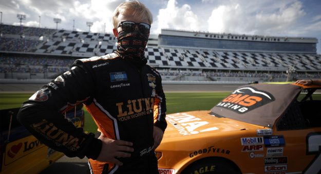 DAYTONA BEACH, FLORIDA - FEBRUARY 12: Tyler Ankrum, driver of the #26 LiUNA! Chevrolet waits on the grid during qualifying for the NASCAR Camping World Truck Series NextEra Energy 250 at Daytona International Speedway on February 12, 2021 in Daytona Beach, Florida. (Photo by Chris Graythen/Getty Images) | Getty Images