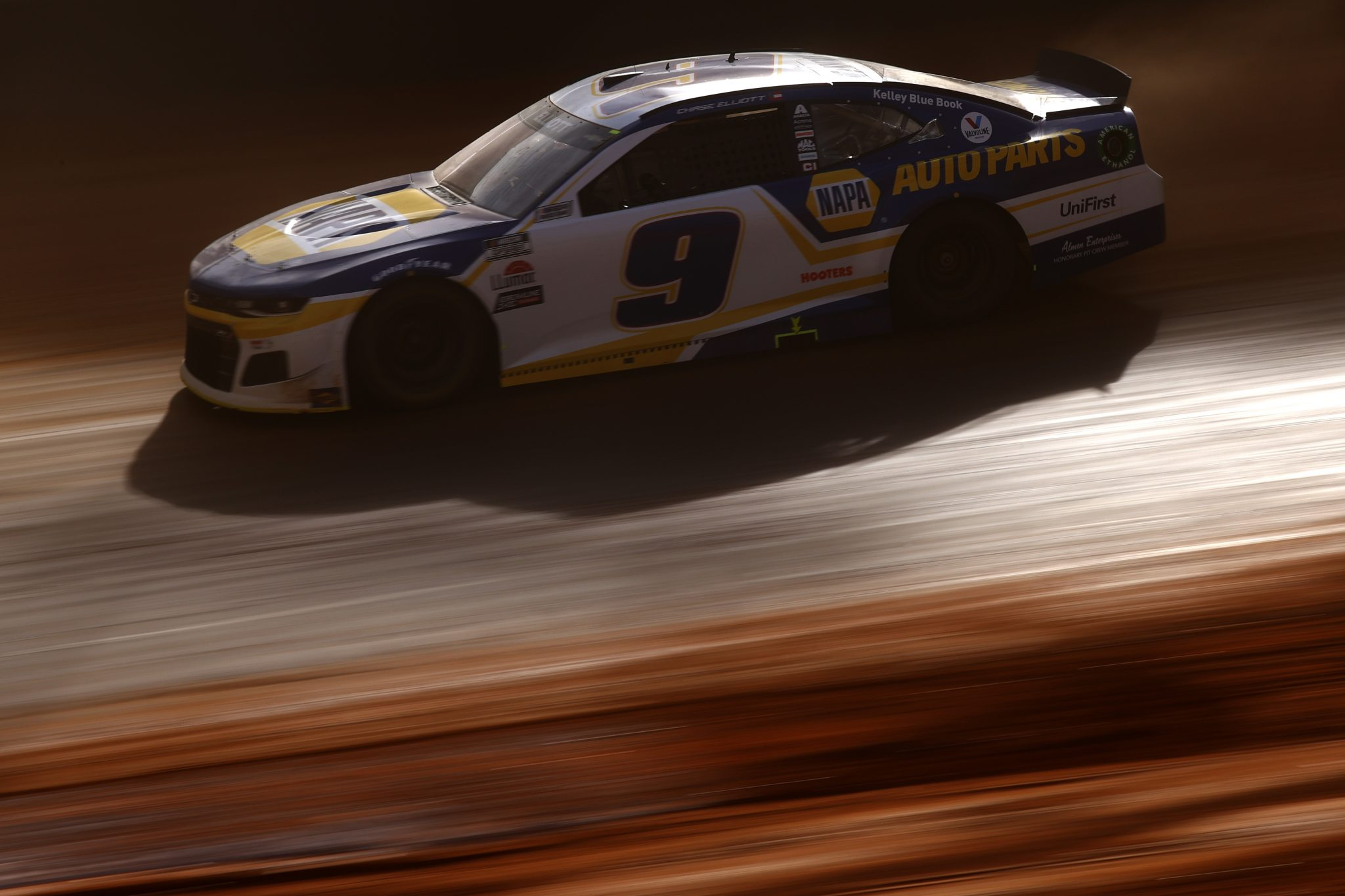 BRISTOL, TENNESSEE - MARCH 26: Chase Elliott, driver of the #9 NAPA Auto Parts Chevrolet, drives during practice for the NASCAR Cup Series Food City Dirt Race at Bristol Motor Speedway on March 26, 2021 in Bristol, Tennessee. (Photo by Chris Graythen/Getty Images) | Getty Images
