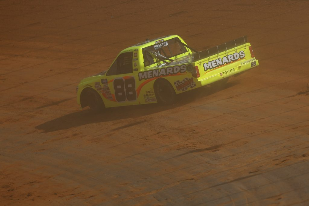 BRISTOL, TENNESSEE - MARCH 26: Matt Crafton, driver of the #88 ThorSport Racing Toyota, drives during practice for the NASCAR Camping World Truck Series Pinty's Truck Race on Dirt at Bristol Motor Speedway on March 26, 2021 in Bristol, Tennessee. (Photo by Jared C. Tilton/Getty Images) | Getty Images