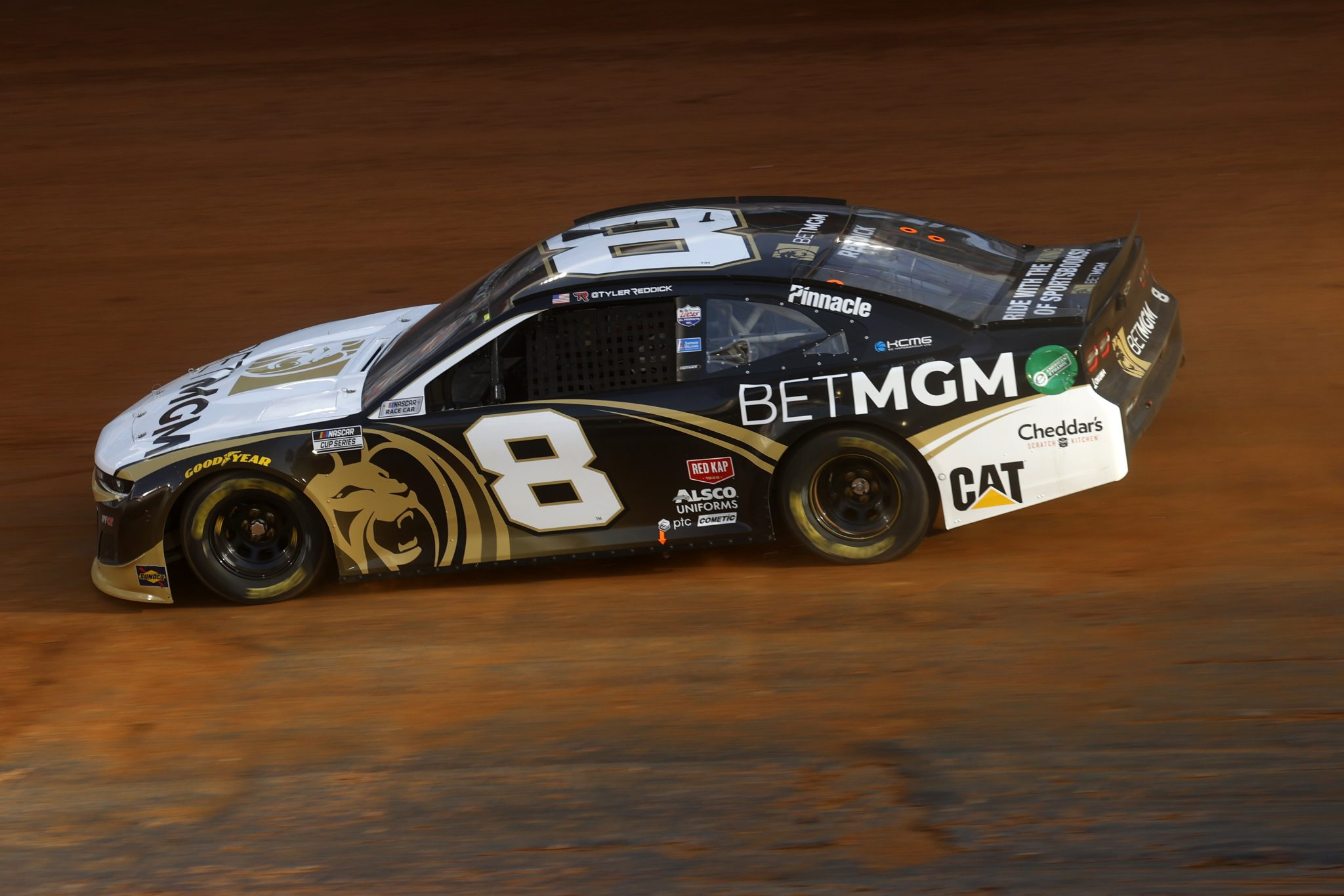 BRISTOL, TENNESSEE - MARCH 26: Tyler Reddick, driver of the #8 BetMGM Chevrolet, drives during practice for the NASCAR Cup Series Food City Dirt Race at Bristol Motor Speedway on March 26, 2021 in Bristol, Tennessee. (Photo by Chris Graythen/Getty Images) | Getty Images