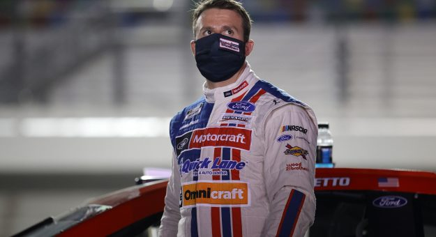 DAYTONA BEACH, FLORIDA - FEBRUARY 09: Matt DiBenedetto, driver of the #21 Motorcraft/Quick Lane Ford, waits on the grid prior to the NASCAR Cup Series Busch Clash at Daytona at Daytona International Speedway on February 09, 2021 in Daytona Beach, Florida. (Photo by Chris Graythen/Getty Images) | Getty Images