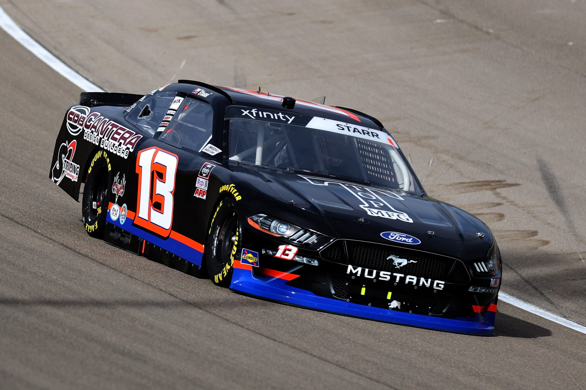 LAS VEGAS, NEVADA - MARCH 06: David Starr, driver of the #13 Ford, drives during the NASCAR Xfinity Series Alsco Uniforms 300 at The Bullring at Las Vegas Motor Speedway on March 06, 2021 in Las Vegas, Nevada. (Photo by Abbie Parr/Getty Images) | Getty Images
