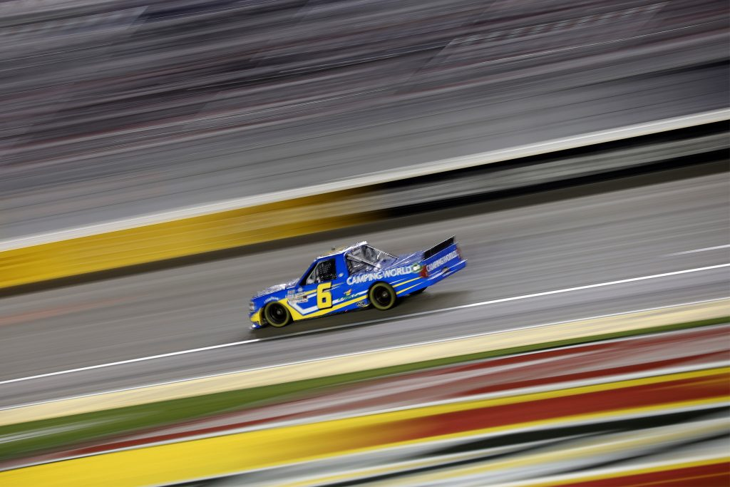 LAS VEGAS, NEVADA - MARCH 05: Norm Benning, driver of the #6 MDF A Sign Company Chevrolet, drives during the NASCAR Camping World Truck Series Bucked Up 200 at The Bullring at Las Vegas Motor Speedway on March 05, 2021 in Las Vegas, Nevada. (Photo by Chris Graythen/Getty Images) | Getty Images