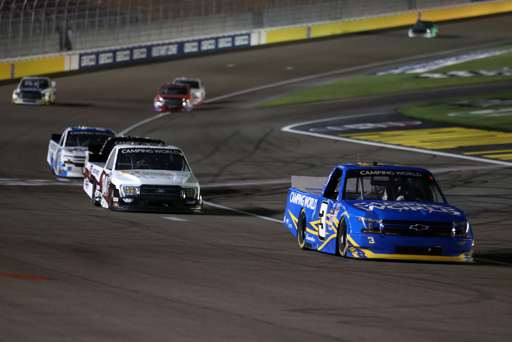 LAS VEGAS, NEVADA - MARCH 05: Jordan Anderson, driver of the #3 Camping World Chevrolet, drives during the NASCAR Camping World Truck Series Bucked Up 200 at The Bullring at Las Vegas Motor Speedway on March 05, 2021 in Las Vegas, Nevada. (Photo by Abbie Parr/Getty Images) | Getty Images
