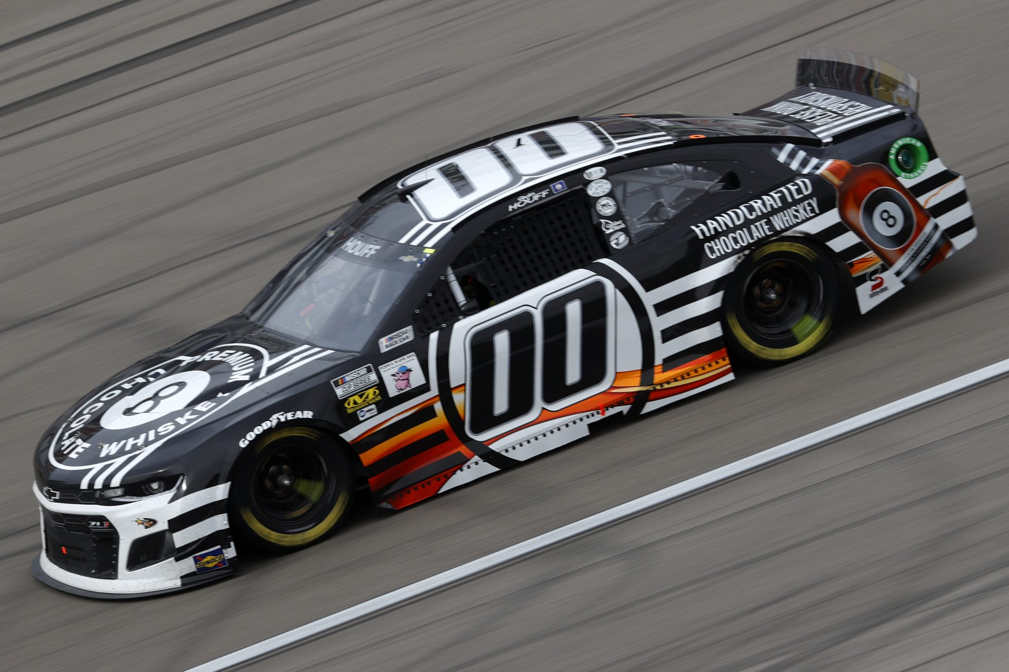 LAS VEGAS, NEVADA - MARCH 07: Quin Houff, driver of the #00 8 Ball Whiskey Chevrolet, drives during the NASCAR Cup Series Pennzoil 400 presented by Jiffy Lube at the Las Vegas Motor Speedway on March 07, 2021 in Las Vegas, Nevada. (Photo by Chris Graythen/Getty Images) | Getty Images