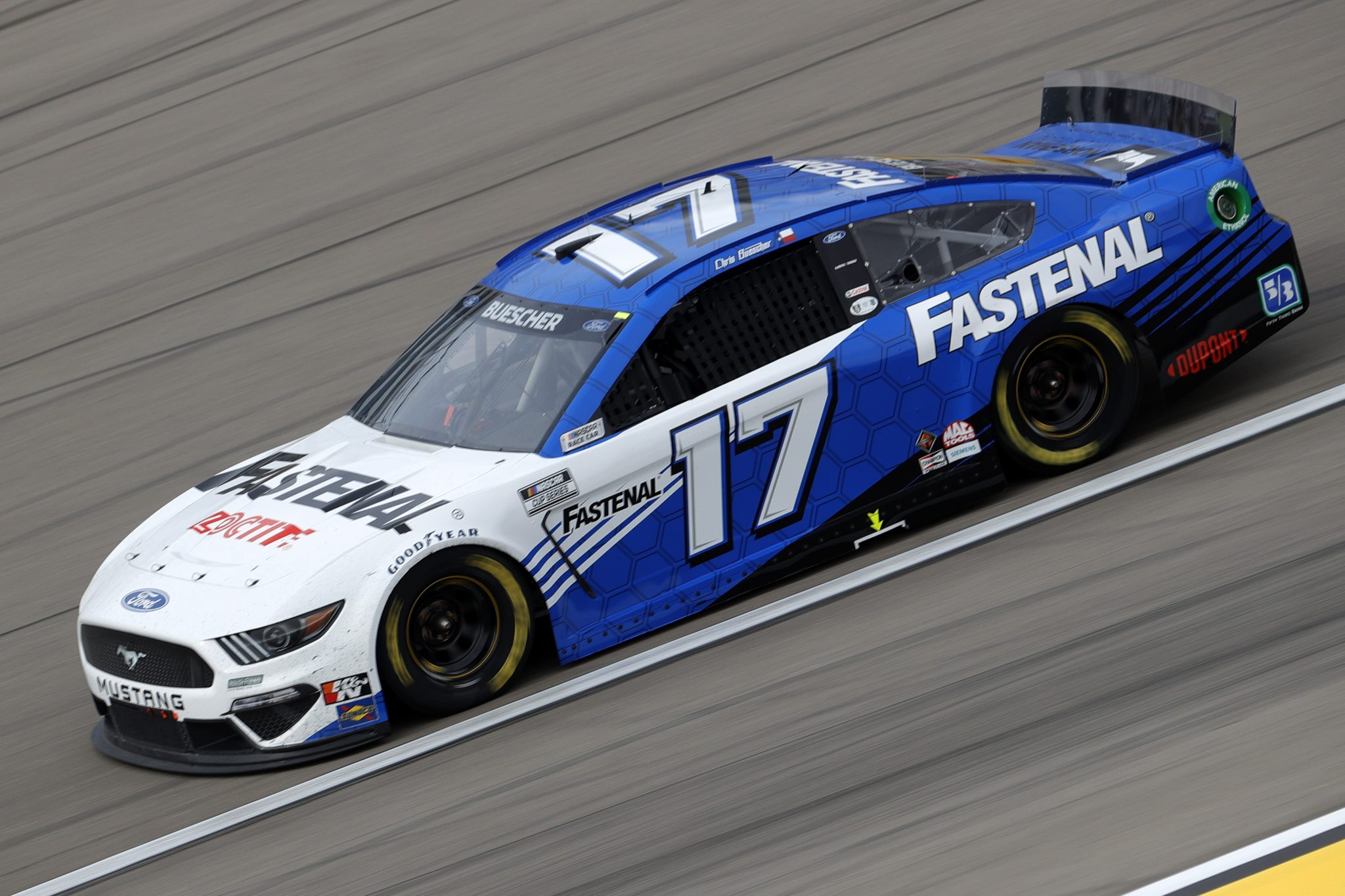 LAS VEGAS, NEVADA - MARCH 07: Chris Buescher, driver of the #17 Fastenal Ford, drives during the NASCAR Cup Series Pennzoil 400 presented by Jiffy Lube at the Las Vegas Motor Speedway on March 07, 2021 in Las Vegas, Nevada. (Photo by Chris Graythen/Getty Images) | Getty Images