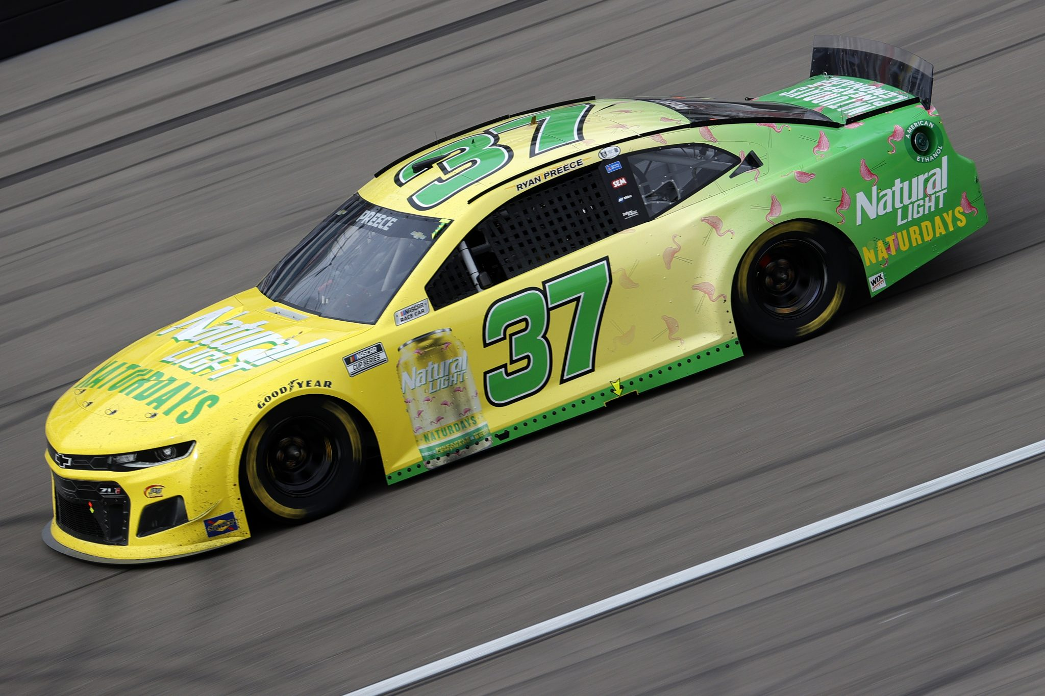 LAS VEGAS, NEVADA - MARCH 07: Ryan Preece, driver of the #37 Natural Light Naturdays Chevrolet, drives during the NASCAR Cup Series Pennzoil 400 presented by Jiffy Lube at the Las Vegas Motor Speedway on March 07, 2021 in Las Vegas, Nevada. (Photo by Chris Graythen/Getty Images) | Getty Images