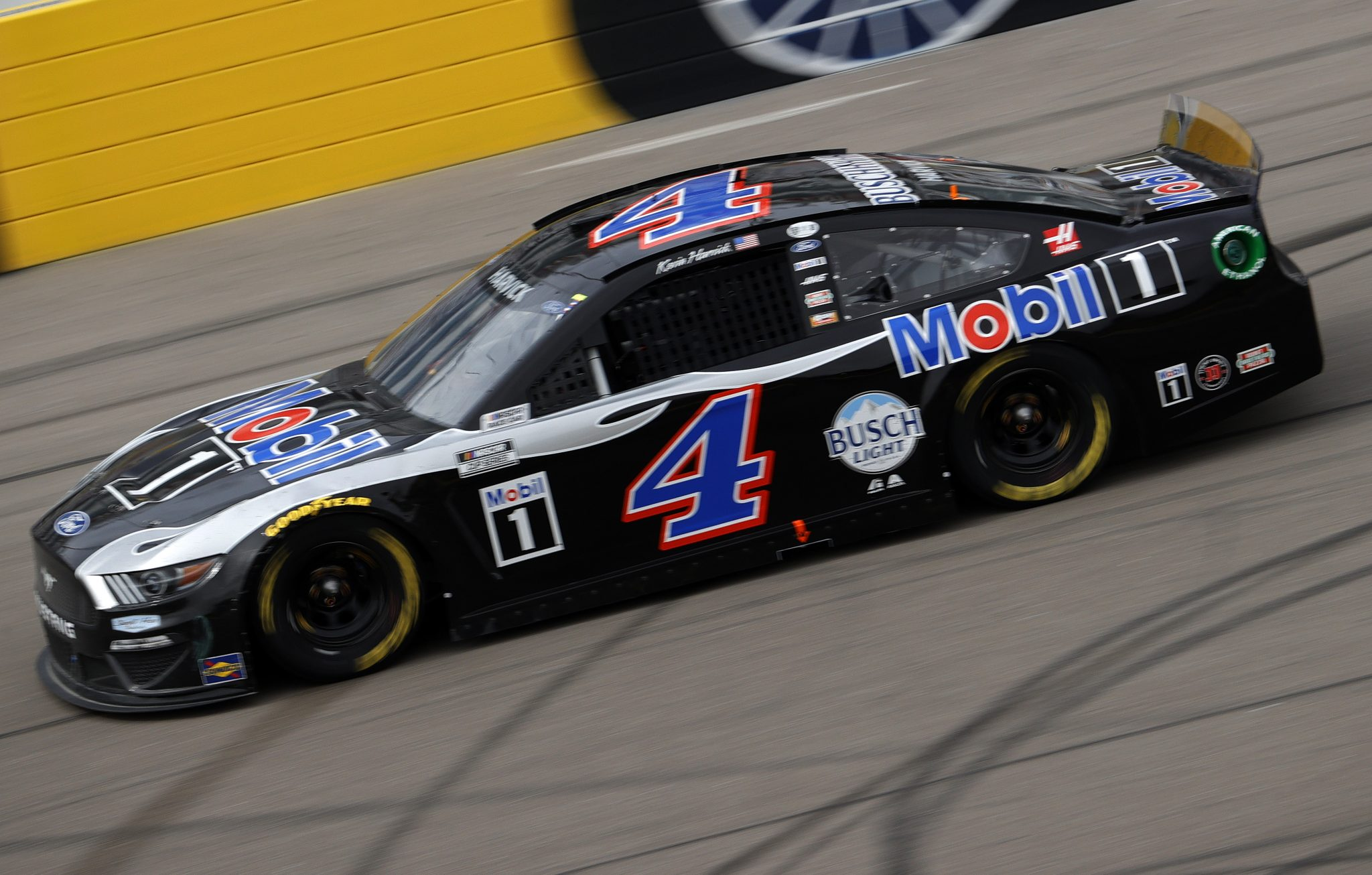 LAS VEGAS, NEVADA - MARCH 07: Kevin Harvick, driver of the #4 Mobil 1 Ford, drives during the NASCAR Cup Series Pennzoil 400 presented by Jiffy Lube at the Las Vegas Motor Speedway on March 07, 2021 in Las Vegas, Nevada. (Photo by Chris Graythen/Getty Images) | Getty Images