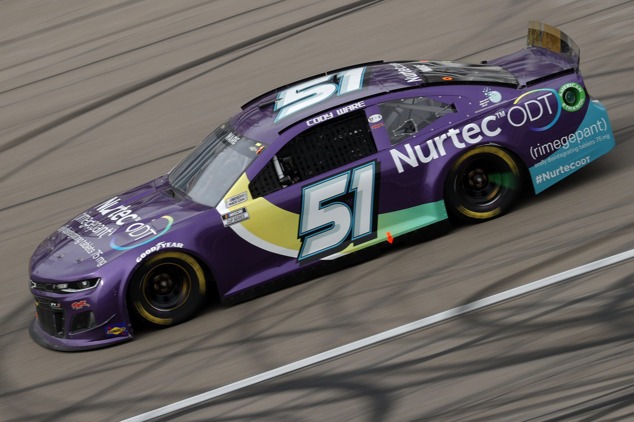 LAS VEGAS, NEVADA - MARCH 07: Cody Ware, driver of the #51 Nurtec ODT Chevrolet, drives during the NASCAR Cup Series Pennzoil 400 presented by Jiffy Lube at the Las Vegas Motor Speedway on March 07, 2021 in Las Vegas, Nevada. (Photo by Chris Graythen/Getty Images) | Getty Images