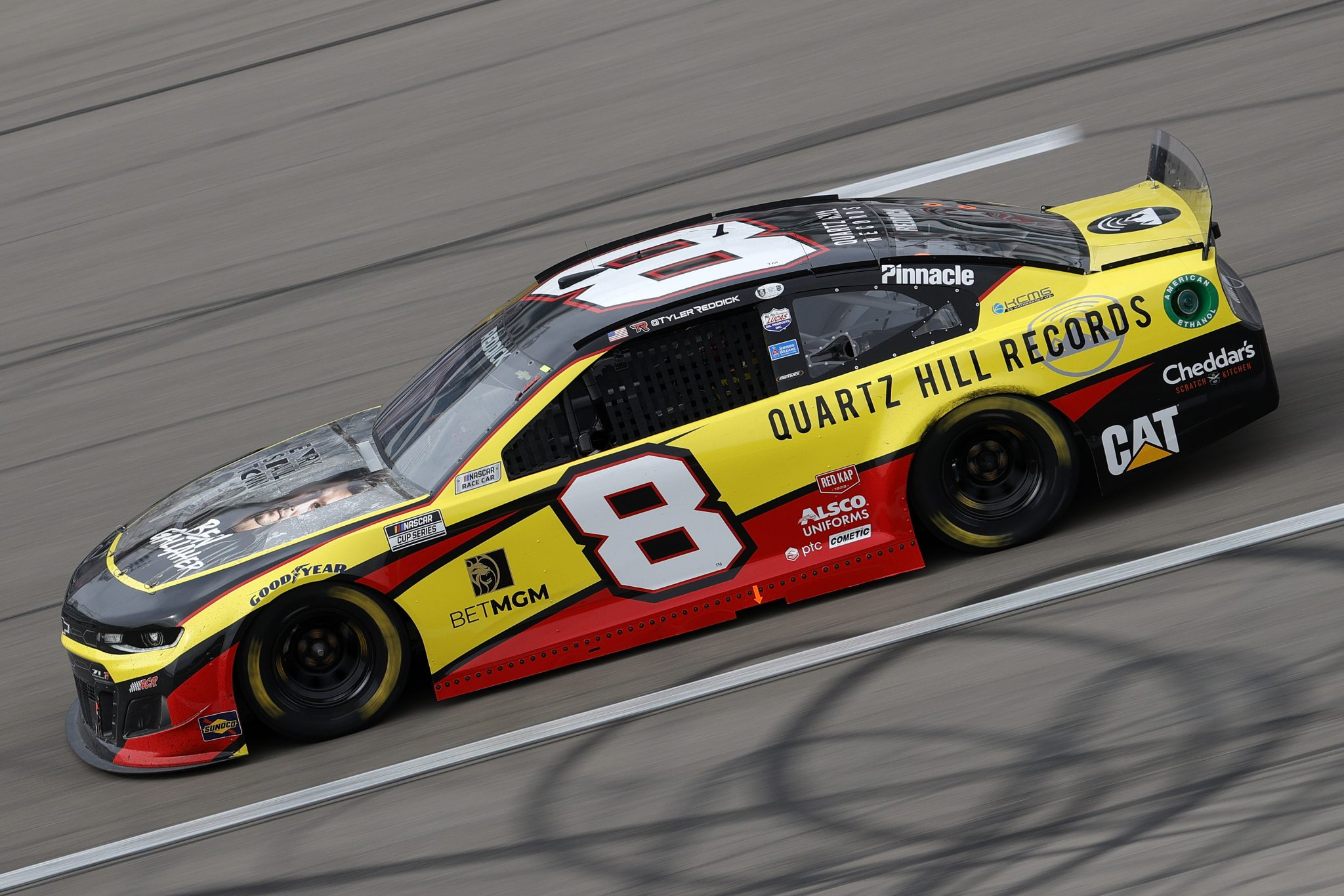 LAS VEGAS, NEVADA - MARCH 07: Tyler Reddick, driver of the #8 Quartz Hill Records Chevrolet, drives during the NASCAR Cup Series Pennzoil 400 presented by Jiffy Lube at the Las Vegas Motor Speedway on March 07, 2021 in Las Vegas, Nevada. (Photo by Chris Graythen/Getty Images) | Getty Images