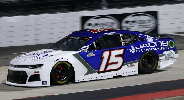 MARTINSVILLE, VIRGINIA - APRIL 10: James Davison, driver of the #15 Chevrolet, drives during the NASCAR Cup Series Blue-Emu Maximum Pain Relief 500 at Martinsville Speedway on April 10, 2021 in Martinsville, Virginia. (Photo by Brian Lawdermilk/Getty Images) | Getty Images