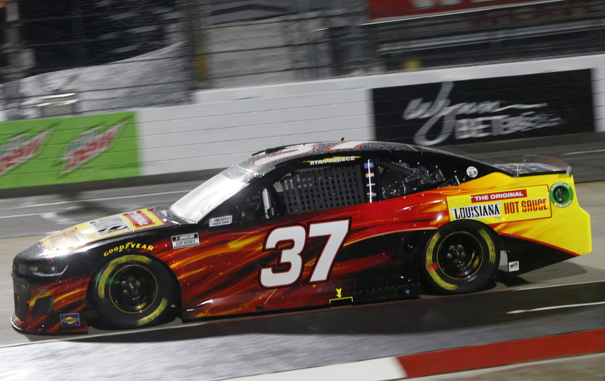 MARTINSVILLE, VIRGINIA - APRIL 10: Ryan Preece, driver of the #37 Louisiana Hot Sauce Chevrolet, drives during the NASCAR Cup Series Blue-Emu Maximum Pain Relief 500 at Martinsville Speedway on April 10, 2021 in Martinsville, Virginia. (Photo by Brian Lawdermilk/Getty Images)   Getty Images