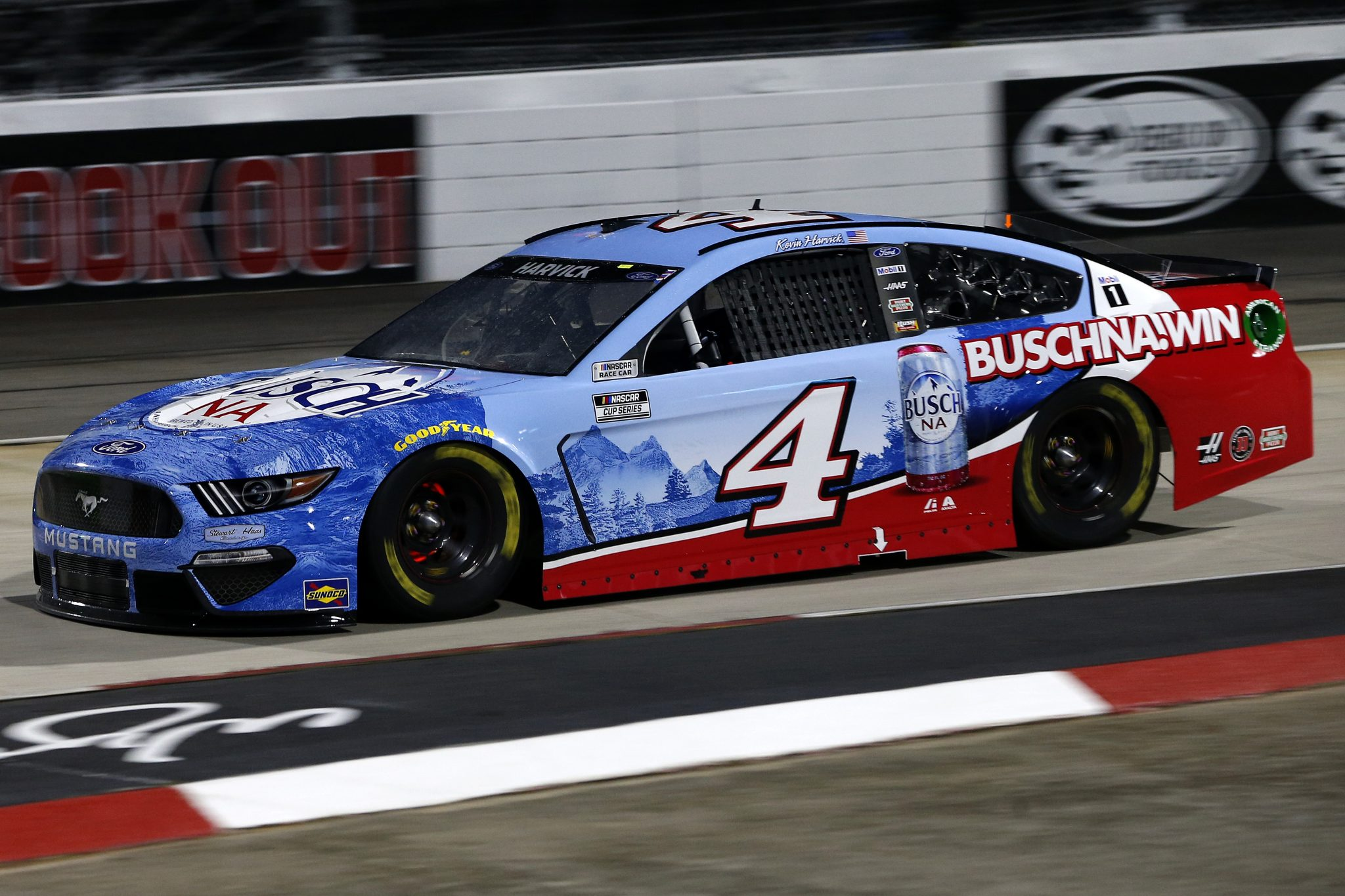 MARTINSVILLE, VIRGINIA - APRIL 10: Kevin Harvick, driver of the #4 Ford, drives during the NASCAR Cup Series Blue-Emu Maximum Pain Relief 500 at Martinsville Speedway on April 10, 2021 in Martinsville, Virginia. (Photo by Brian Lawdermilk/Getty Images) | Getty Images